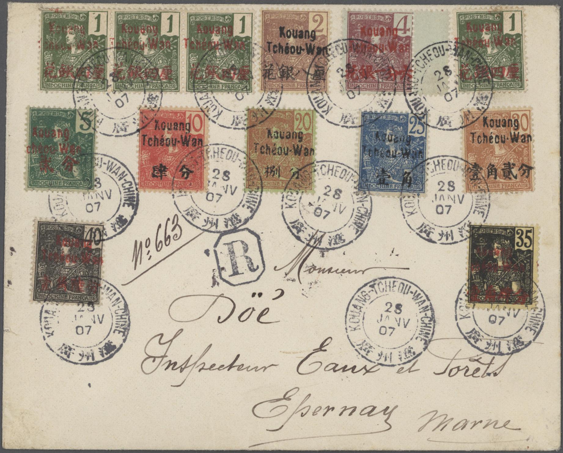 Stamp Auction - französisch-indochina - Auction #40 Europe