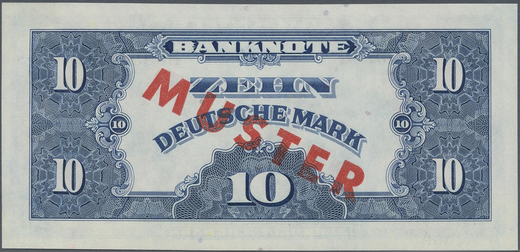 Lot 9805 - Deutschland - Bank Deutscher Länder + Bundesrepublik Deutschland banknoten -  Auktionshaus Christoph Gärtner GmbH & Co. KG Sale #47 Banknotes Worldwide & Germany, Numismatics