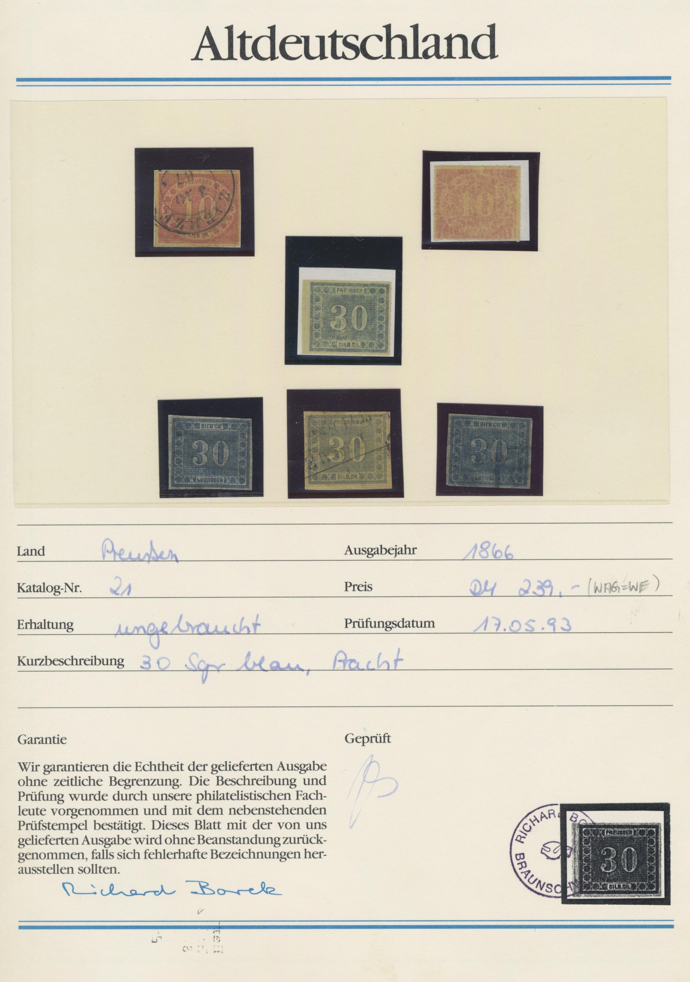Lot 22889 - Preußen - Marken und Briefe  -  Auktionshaus Christoph Gärtner GmbH & Co. KG 50th Auction Anniversary Auction - Day 7