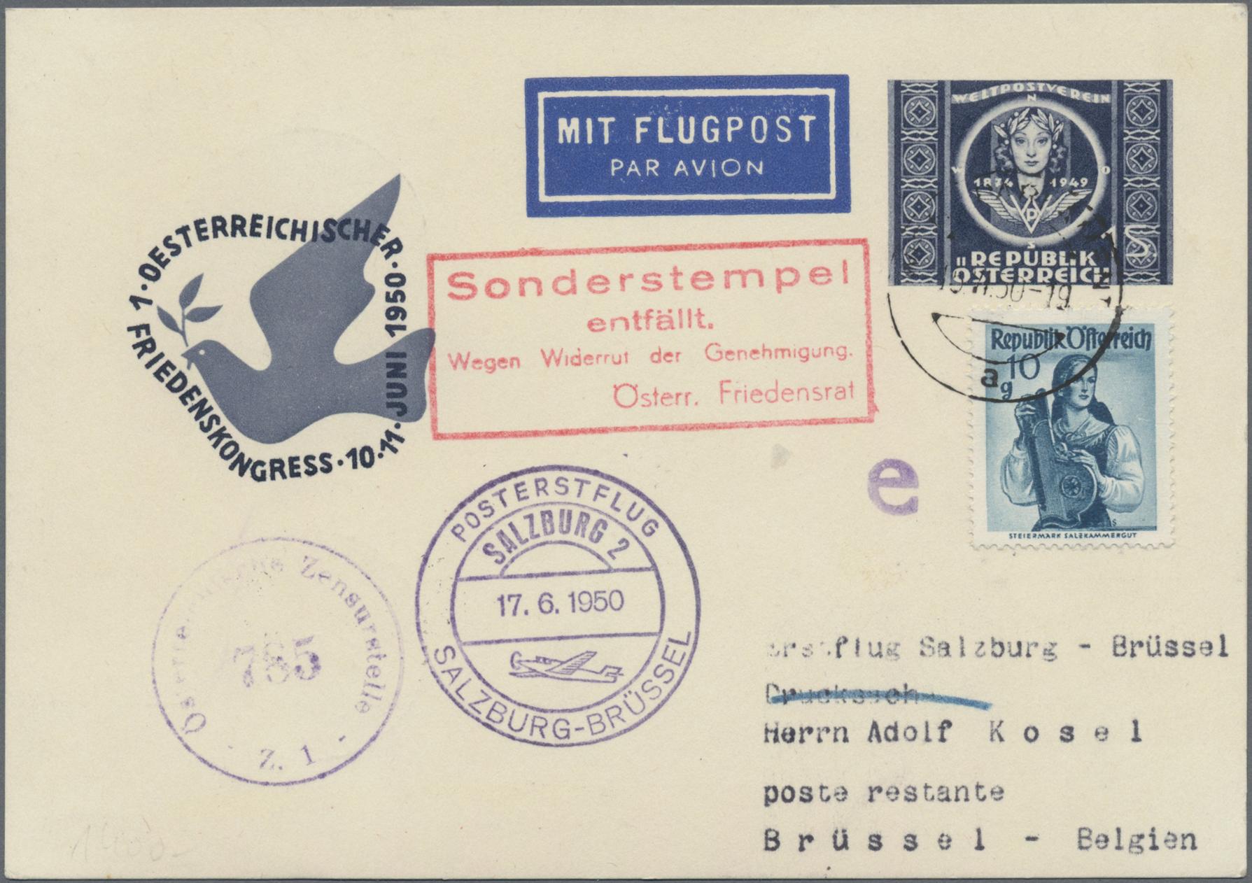 Lot 01573 - österreich - flugpost  -  Auktionshaus Christoph Gärtner GmbH & Co. KG Special auction