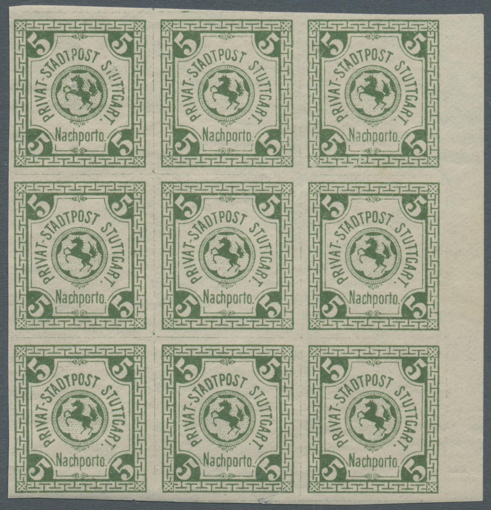 Lot 36820 - Deutsches Reich - Privatpost (Stadtpost)  -  Auktionshaus Christoph Gärtner GmbH & Co. KG Sale #44 Collections Germany