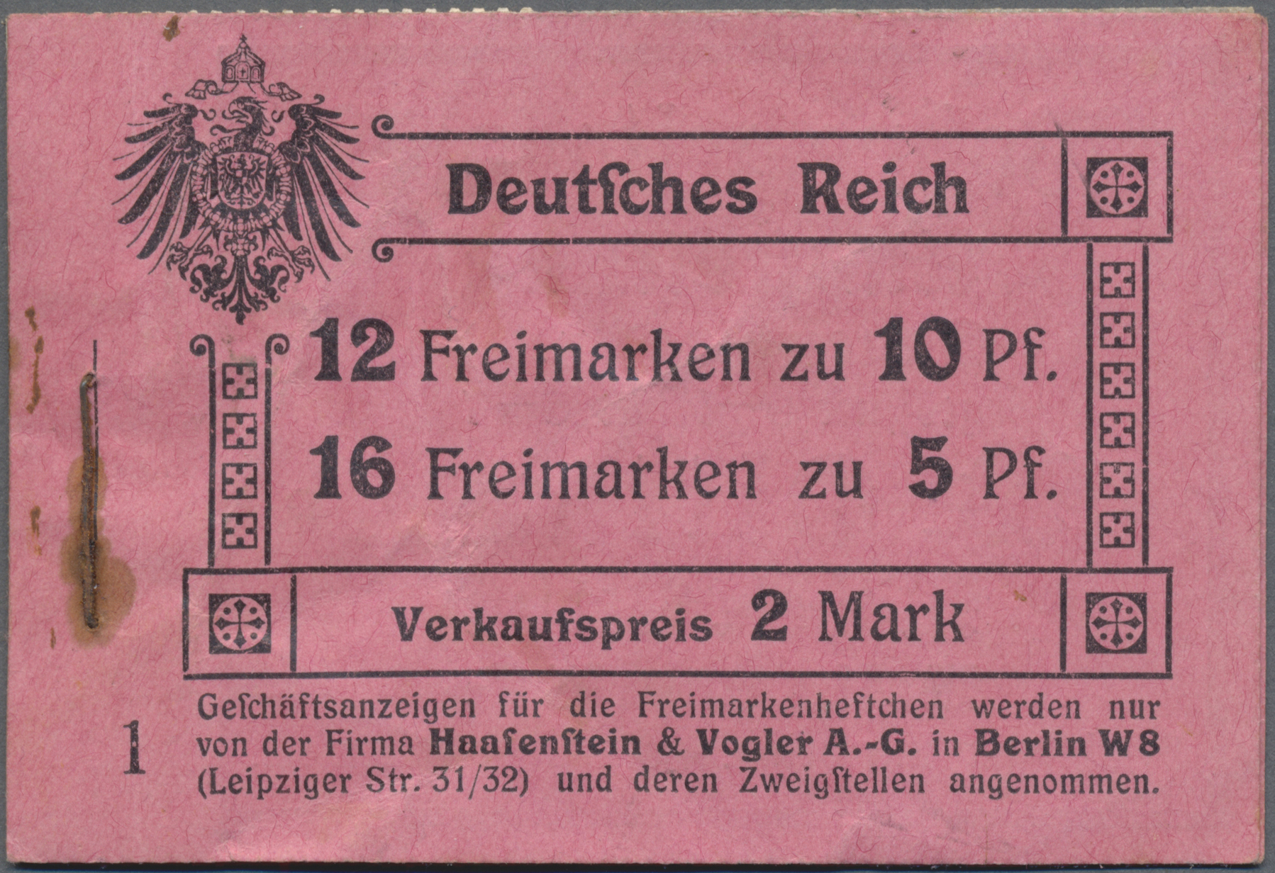 Lot 15981 - Deutsches Reich - Markenheftchen  -  Auktionshaus Christoph Gärtner GmbH & Co. KG Sale #47 Single lots: Germany, Picture Postcards