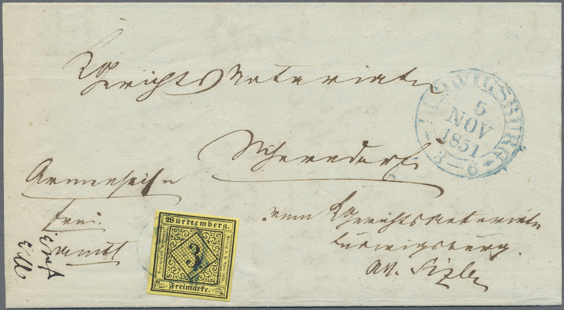 Lot 00148 - Württemberg - Stumme Stempel  -  Auktionshaus Christoph Gärtner GmbH & Co. KG Intenational Rarities and contains lots from the collection of Peter Zgonc