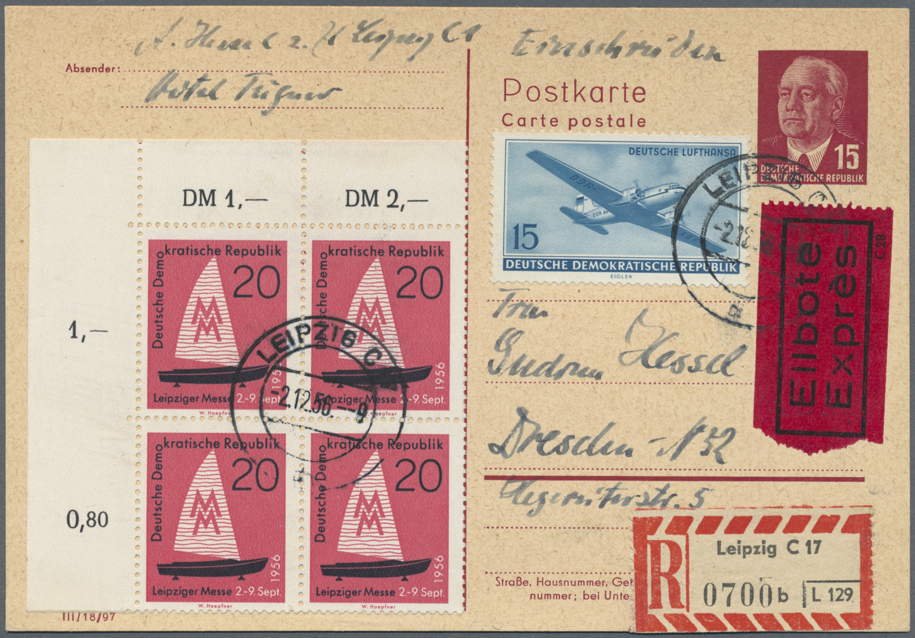 Lot 38076 - ddr - ganzsachen  -  Auktionshaus Christoph Gärtner GmbH & Co. KG Collections Germany,  Collections Supplement, Surprise boxes #39 Day 7