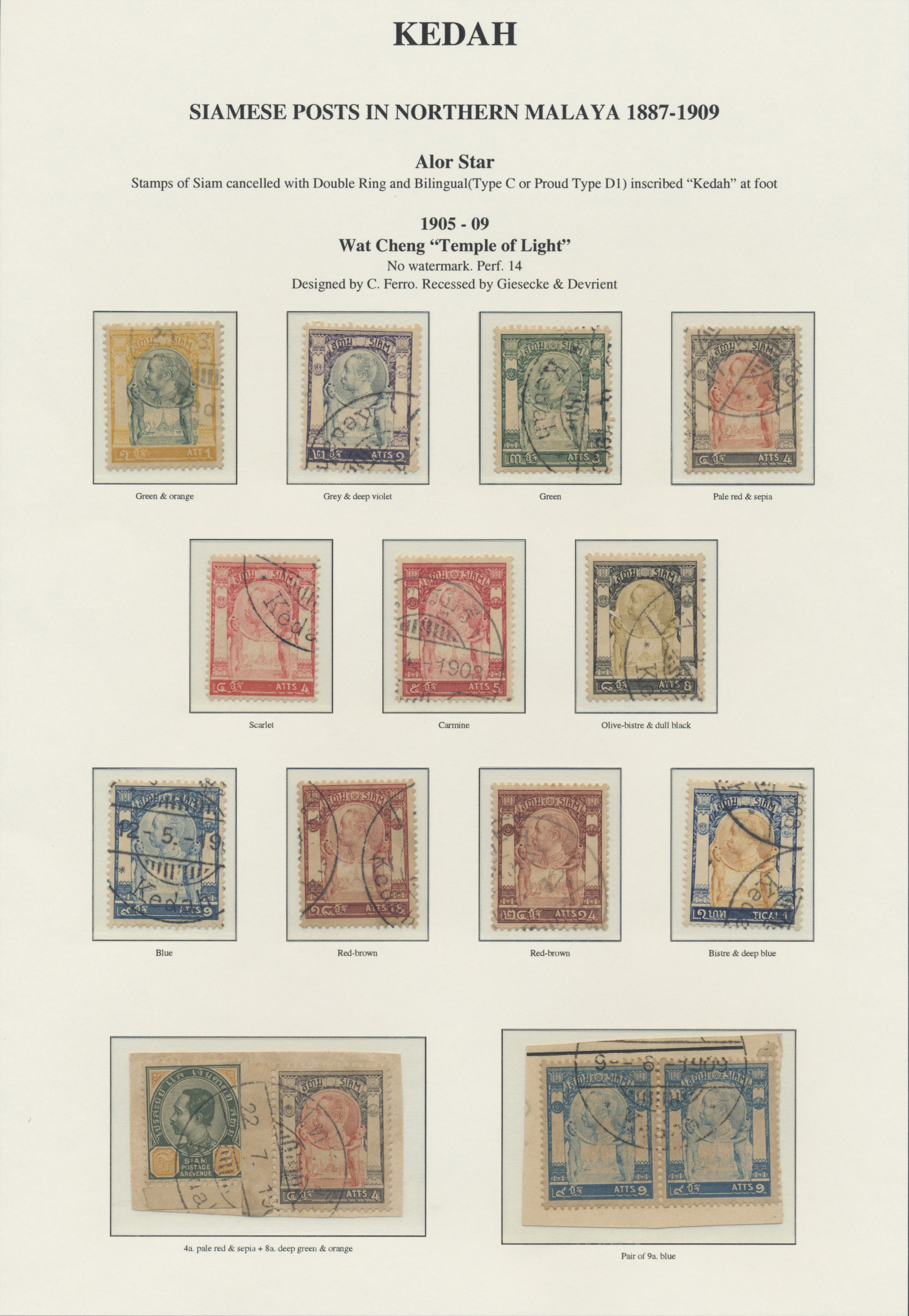 Lot 9066 - Malaiische Staaten - Kedah  -  Auktionshaus Christoph Gärtner GmbH & Co. KG Philately: ASIA single lots including Special Catalog Malaya Auction #39 Day 3