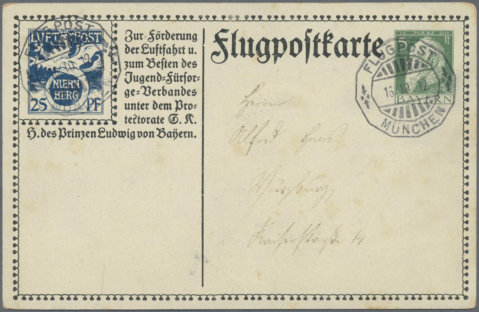 Lot 05265 - bayern - ganzsachen  -  Auktionshaus Christoph Gärtner GmbH & Co. KG 51th Auction - Day 3