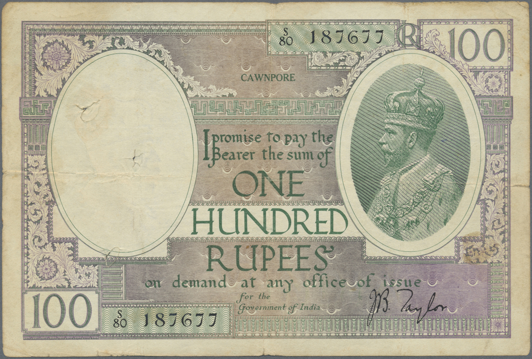 Lot 824 - India / Indien | Banknoten  -  Auktionshaus Christoph Gärtner GmbH & Co. KG Banknotes Worldwide Auction #39 Day 1