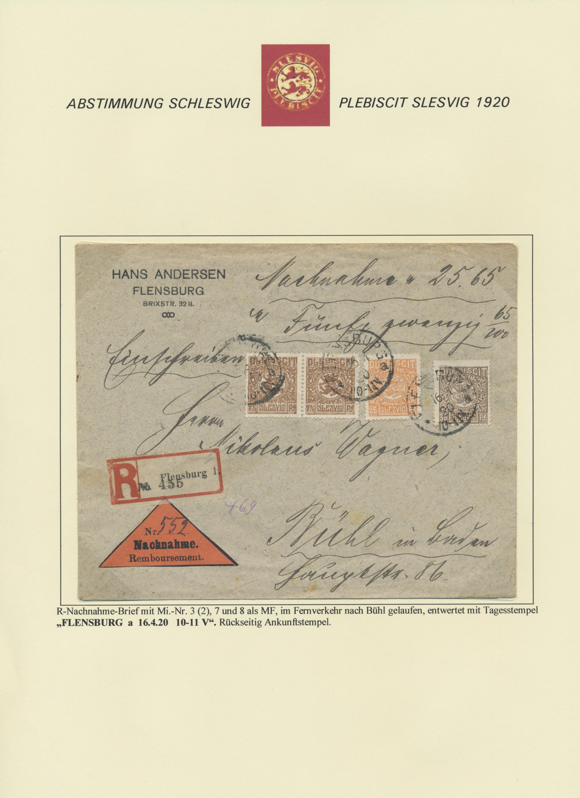 Lot 28887 - Deutsche Abstimmungsgebiete: Schleswig  -  Auktionshaus Christoph Gärtner GmbH & Co. KG Sale #46 Gollcetions Germany - including the suplement