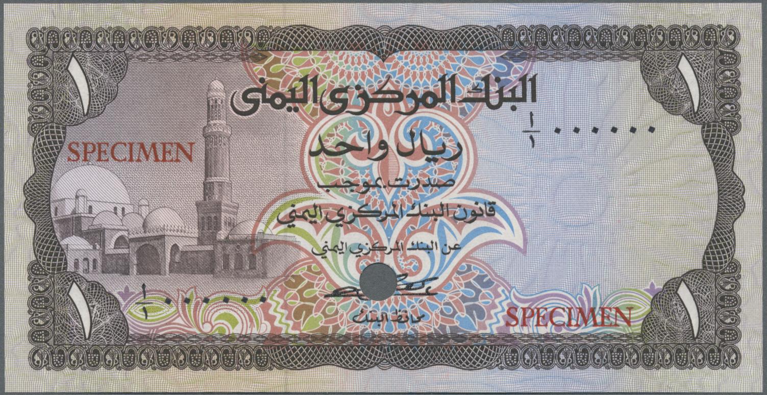 Lot 2260 - Yemen / Jemen | Banknoten  -  Auktionshaus Christoph Gärtner GmbH & Co. KG Banknotes & Coins Auction #39 Day 2