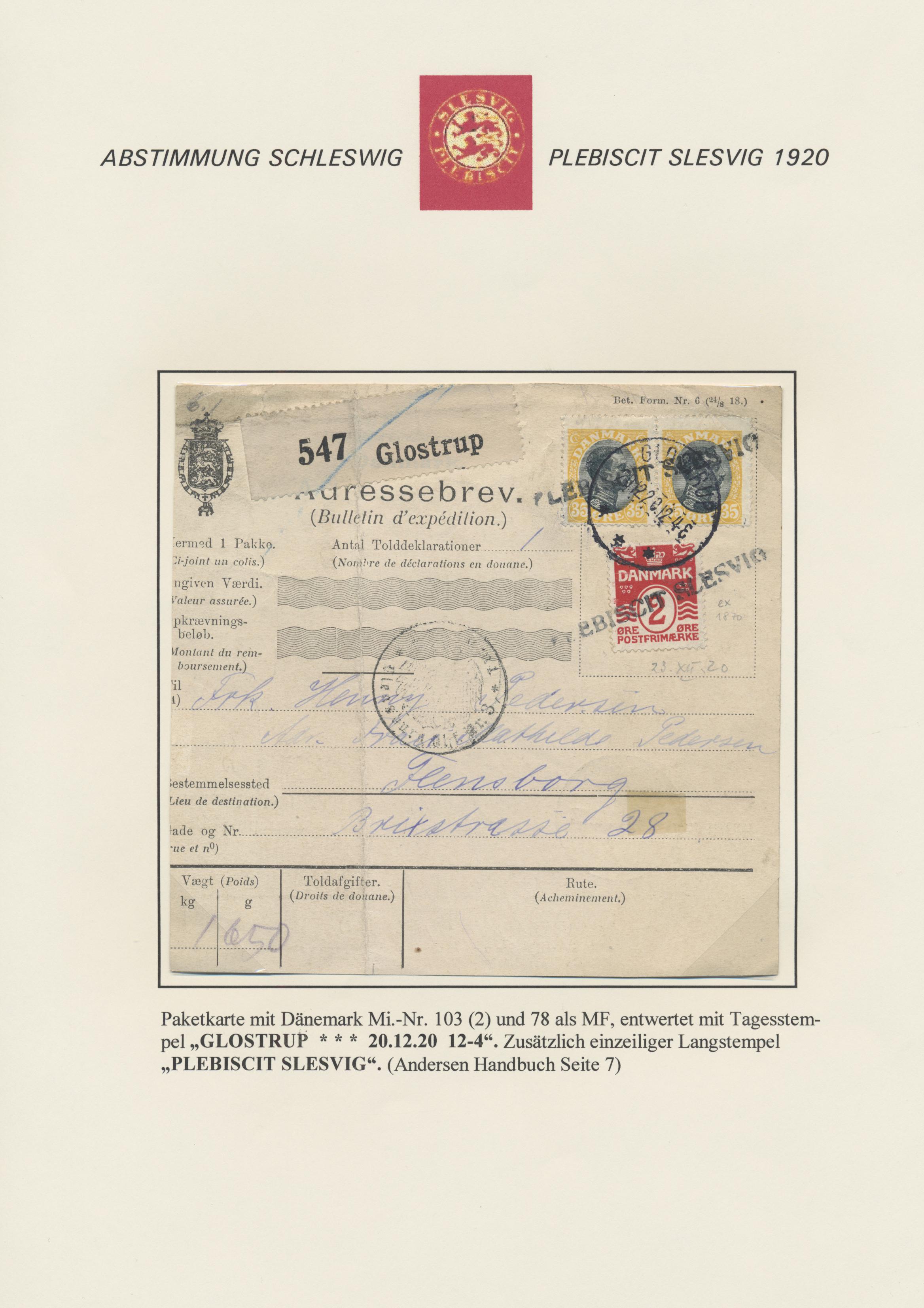 Lot 28886 - Deutsche Abstimmungsgebiete: Schleswig  -  Auktionshaus Christoph Gärtner GmbH & Co. KG Sale #46 Gollcetions Germany - including the suplement