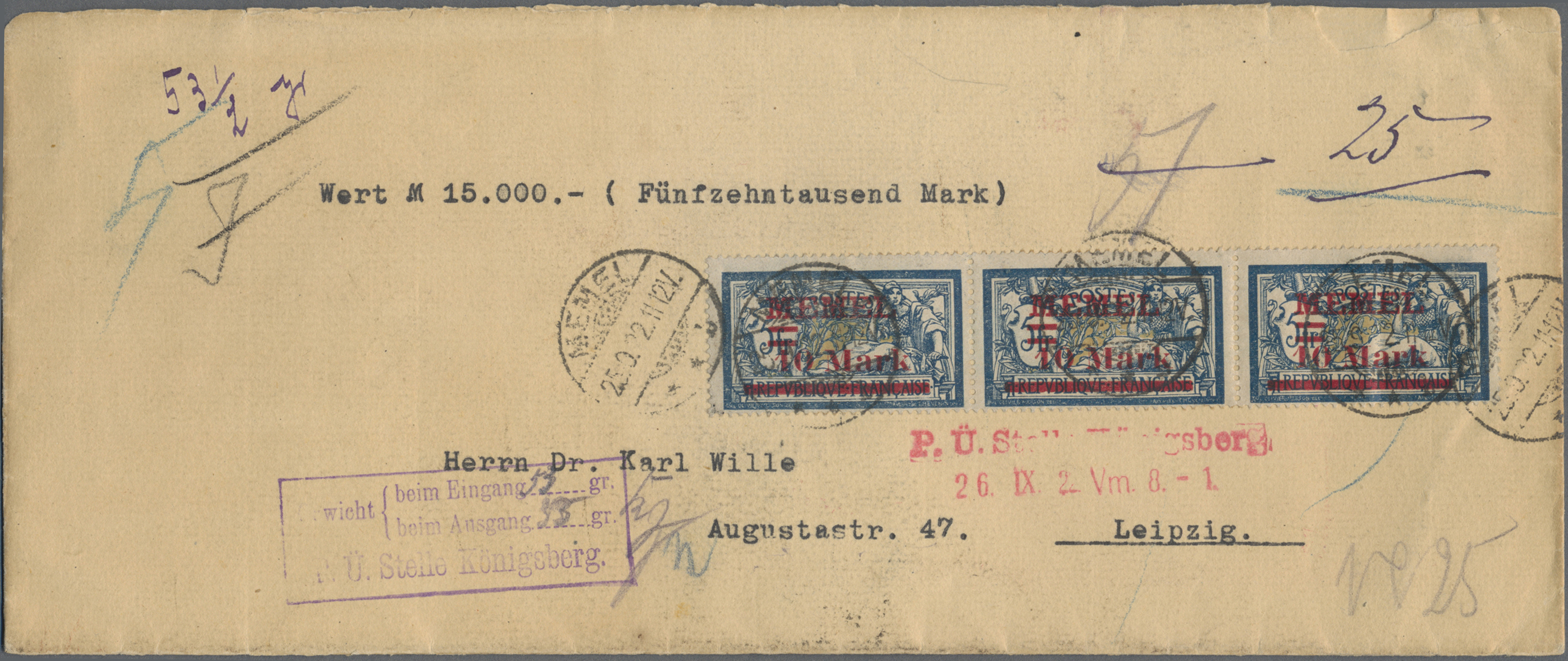 Lot 23700 - Memel  -  Auktionshaus Christoph Gärtner GmbH & Co. KG 50th Auction Anniversary Auction - Day 7