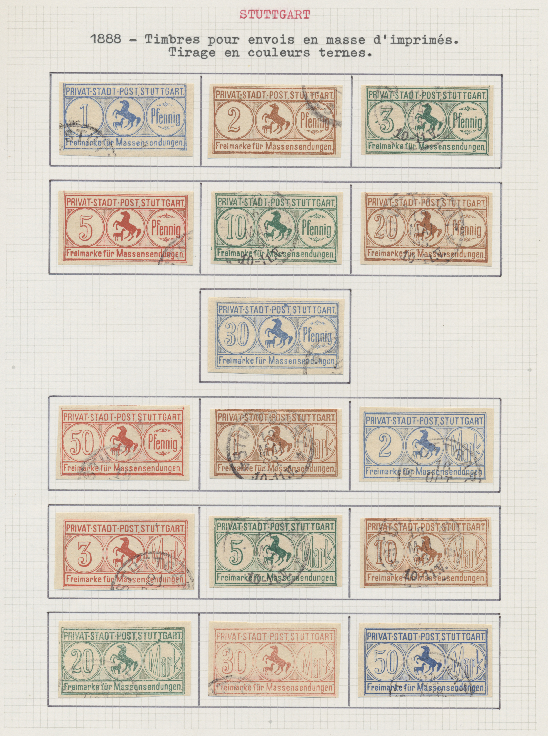Lot 36822 - Deutsches Reich - Privatpost (Stadtpost)  -  Auktionshaus Christoph Gärtner GmbH & Co. KG Sale #44 Collections Germany
