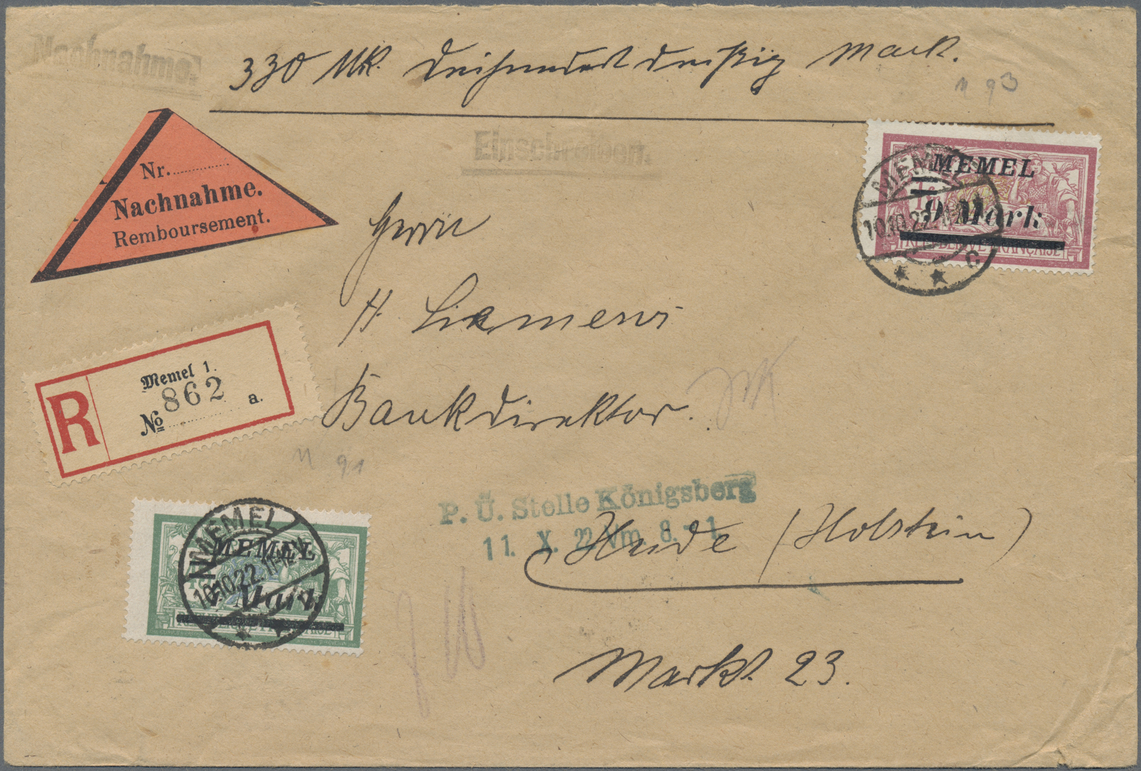Lot 23702 - Memel  -  Auktionshaus Christoph Gärtner GmbH & Co. KG 50th Auction Anniversary Auction - Day 7