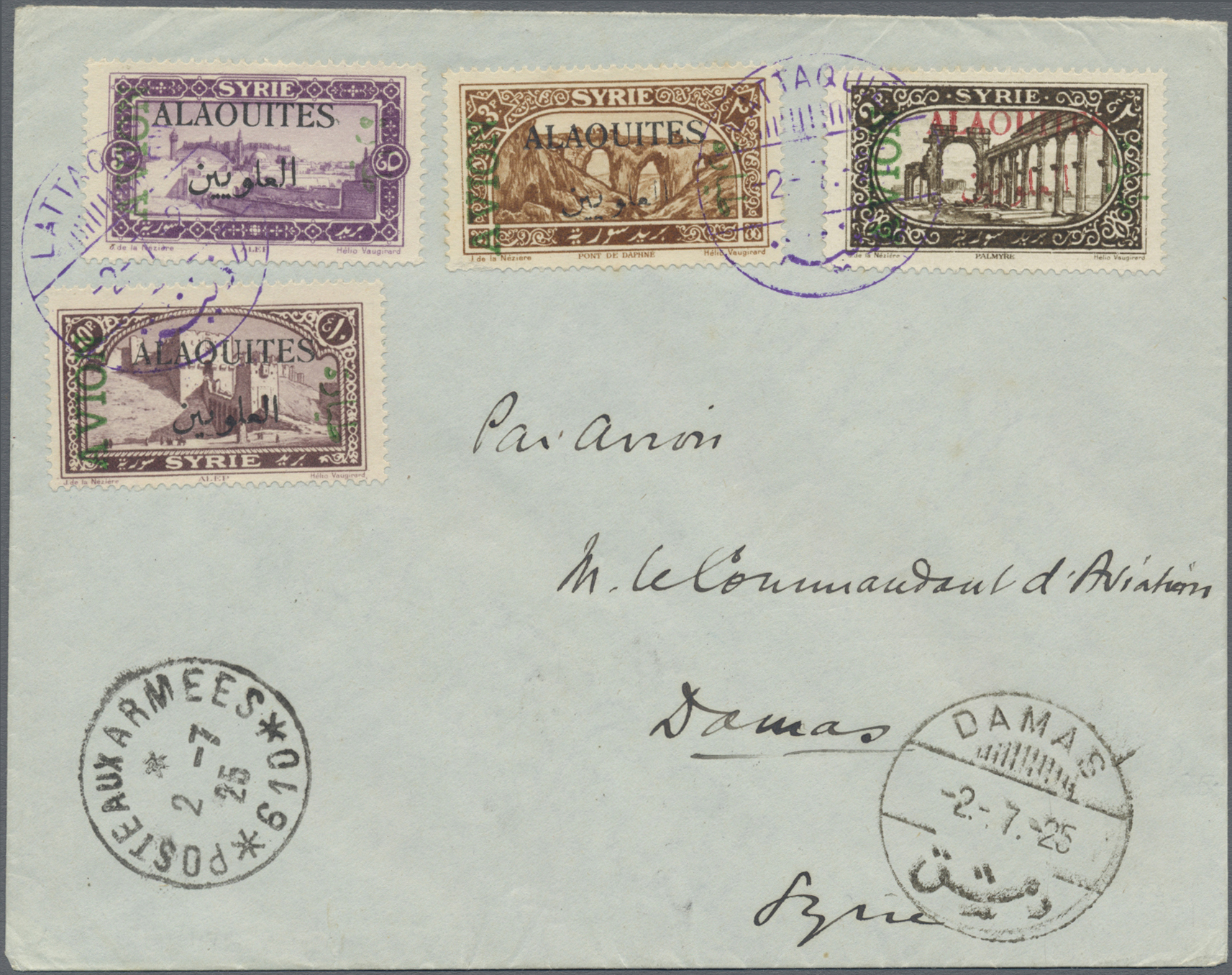 Lot 05016 - alawiten-gebiet  -  Auktionshaus Christoph Gärtner GmbH & Co. KG Sale #49 Single lots Asia, Thematics, Oversea, Europe, Old German States, Third Reich, German Colonies and the Federal Republic of Germany