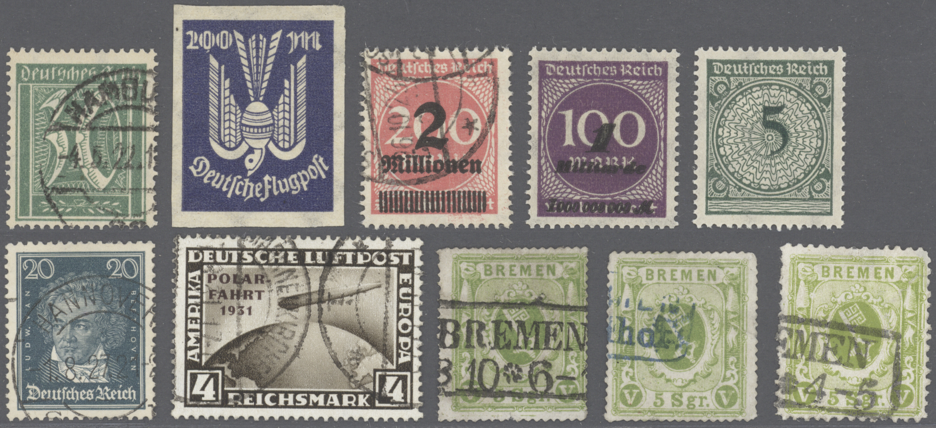 Lot 36438 - Deutsches Reich  -  Auktionshaus Christoph Gärtner GmbH & Co. KG Sale #44 Collections Germany
