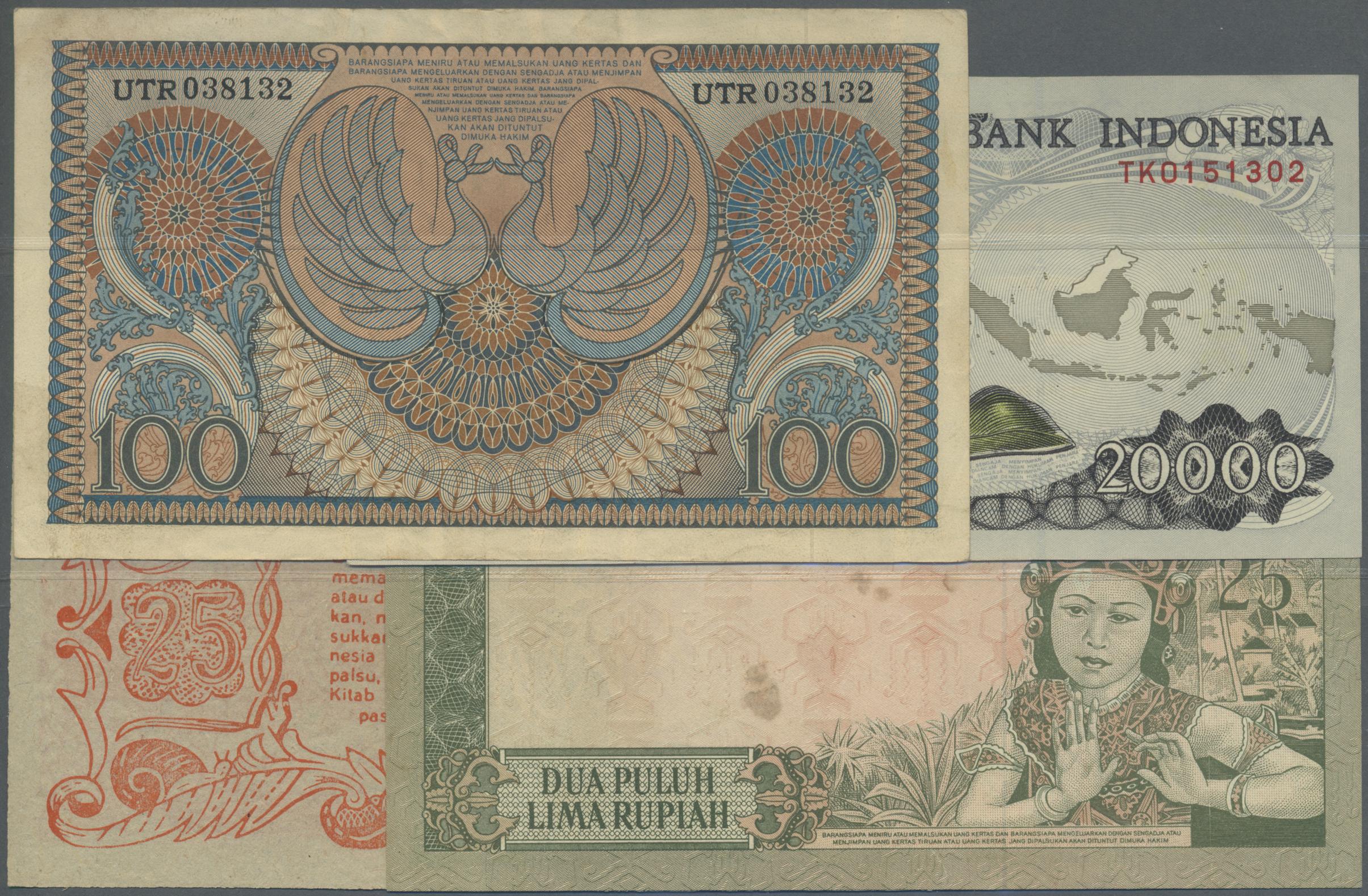 Stamp Auction - Indonesia / Indonesien | Banknoten - Bank