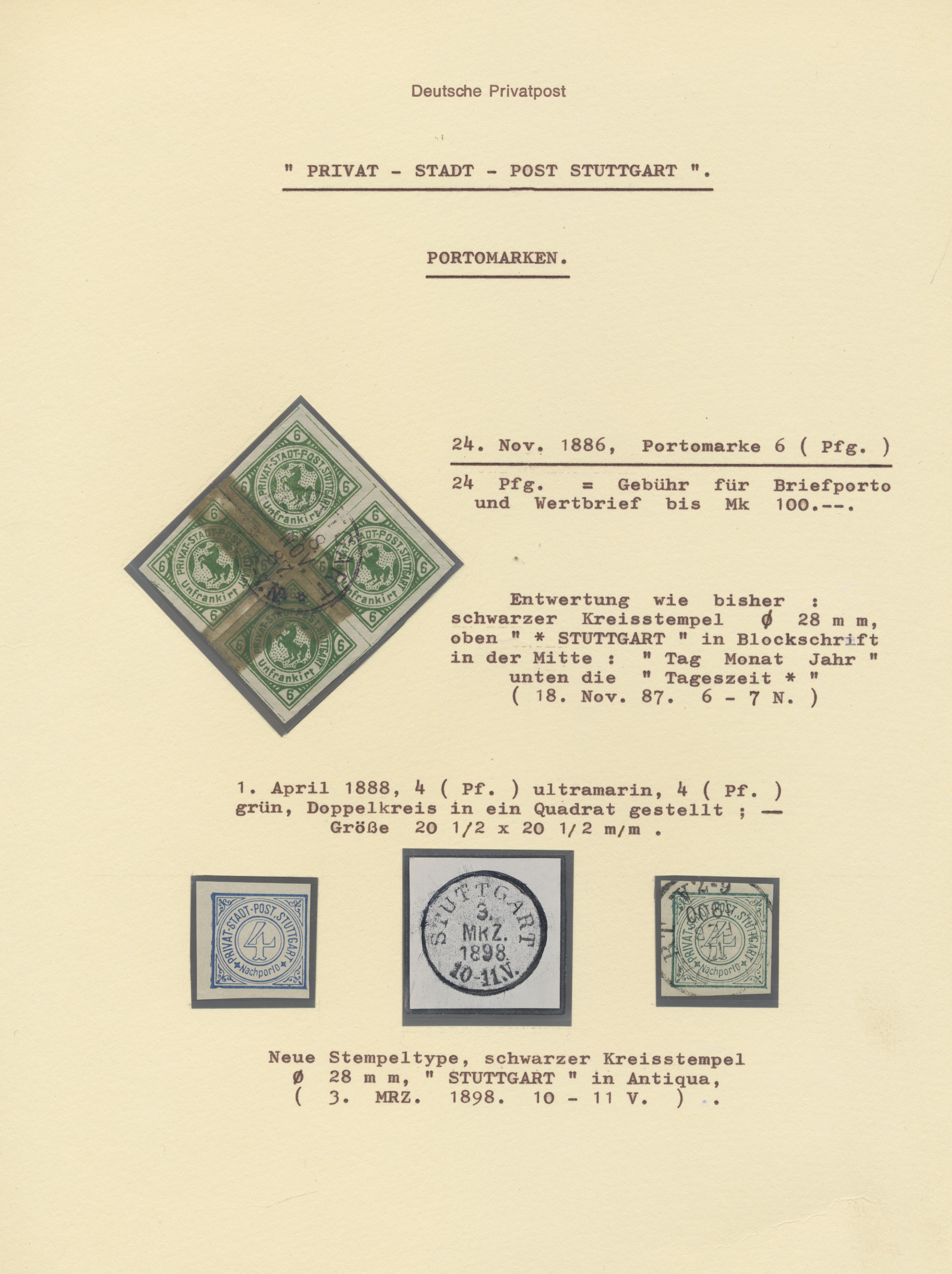 Coin Auction Deutsches Reich Privatpost Stadtpost Sale 43