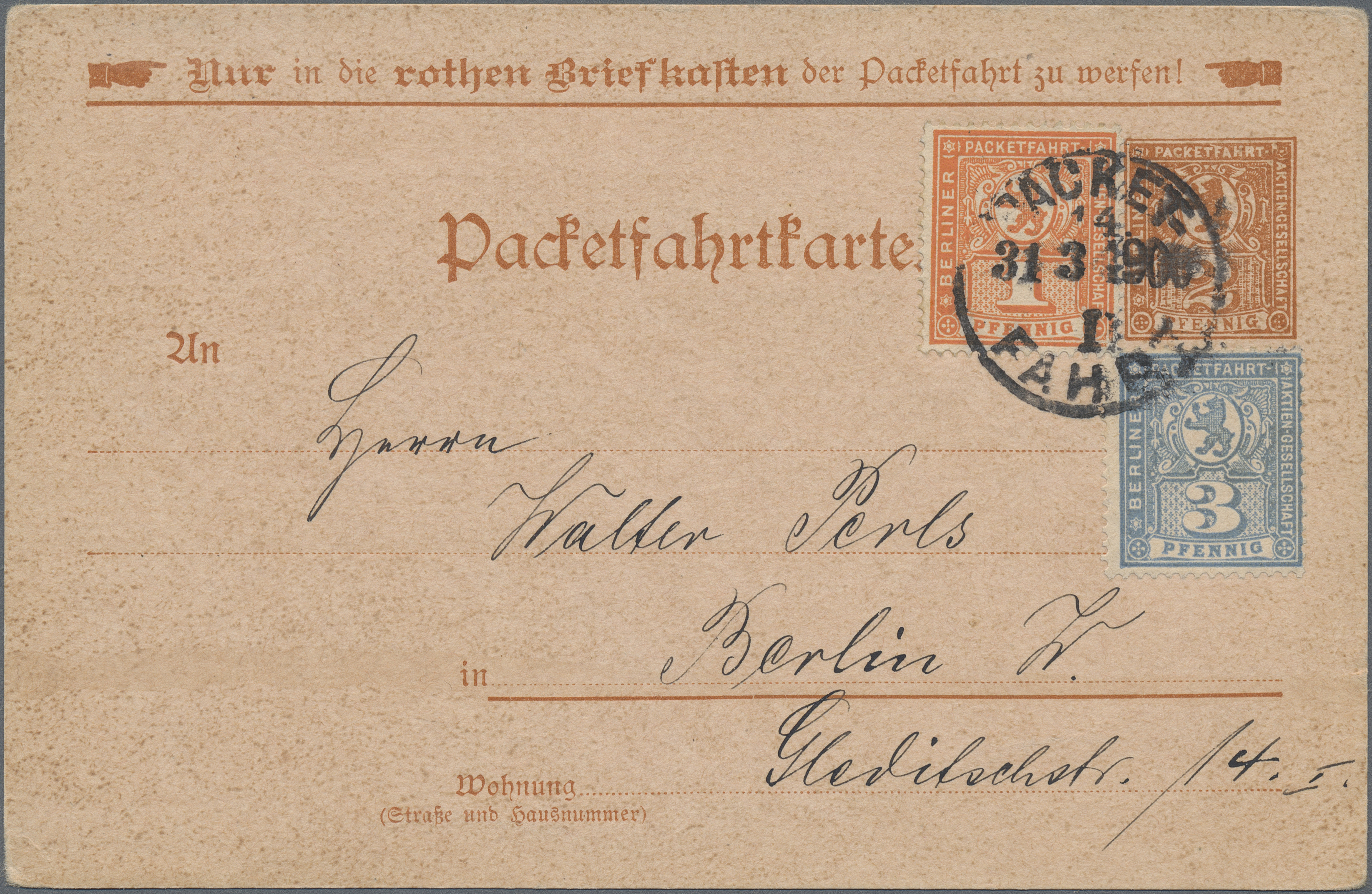 Lot 36813 - Deutsches Reich - Privatpost (Stadtpost)  -  Auktionshaus Christoph Gärtner GmbH & Co. KG Sale #44 Collections Germany