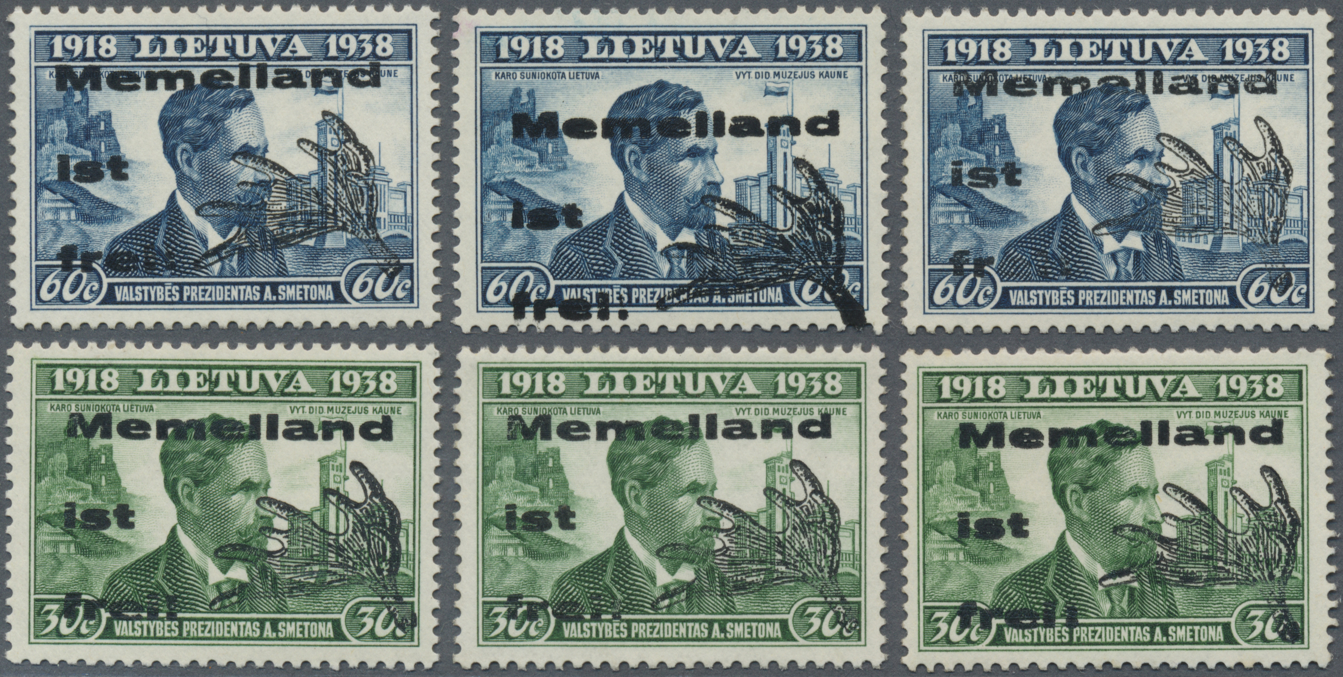 Lot 19177 - Memel - Lokalausgabe Memelland  -  Auktionshaus Christoph Gärtner GmbH & Co. KG Auction #40 Germany, Picture Post Cards, Collections Overseas, Thematics