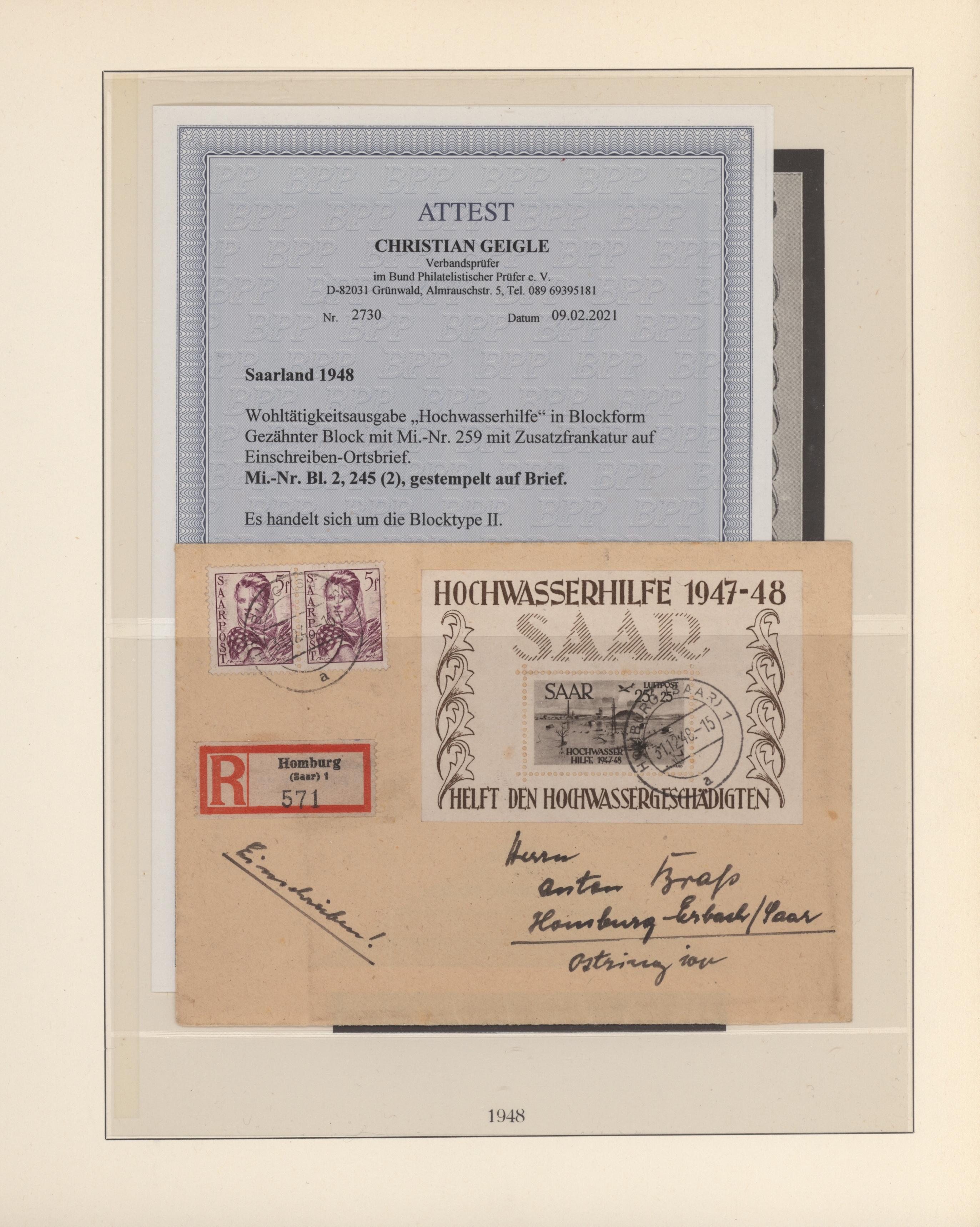 Lot 14757 - Deutsche Abstimmungsgebiete: Saargebiet  -  Auktionshaus Christoph Gärtner GmbH & Co. KG 51th Auction - Day 5
