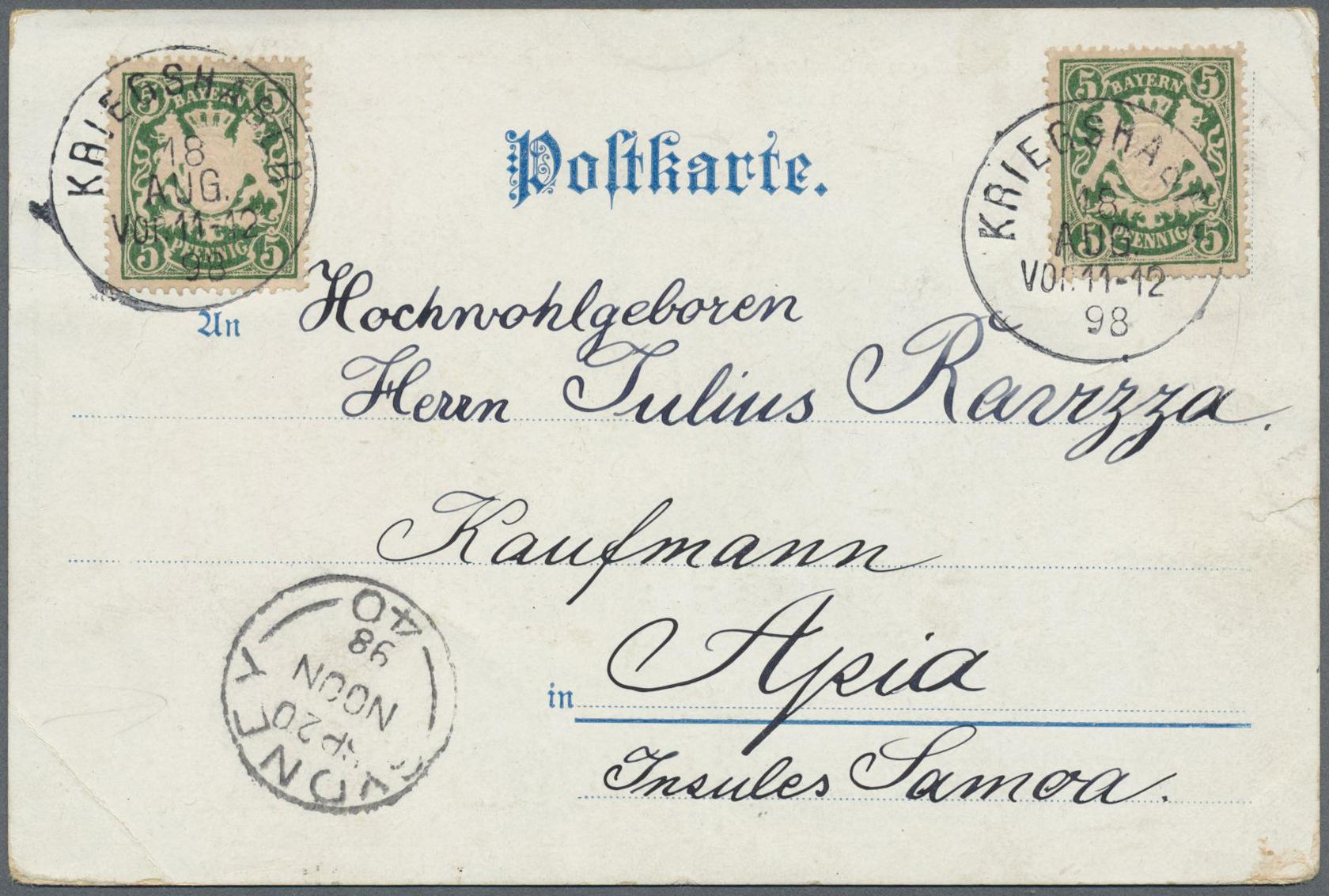 Lot 37196 - Deutsche Auslandspostämter + Kolonien  -  Auktionshaus Christoph Gärtner GmbH & Co. KG Collections Germany,  Collections Supplement, Surprise boxes #39 Day 7