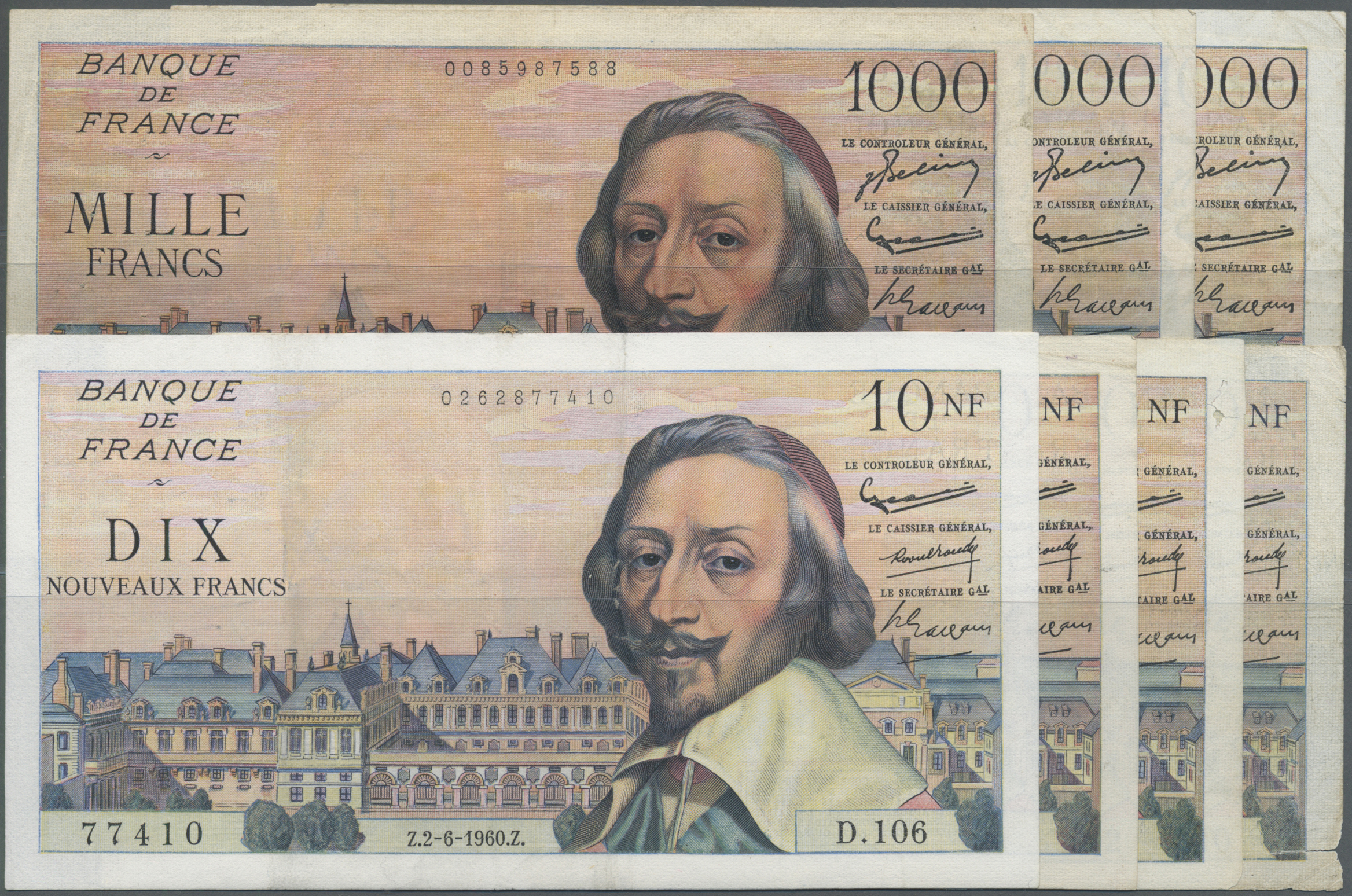 Lot 258 - France / Frankreich | Banknoten  -  Auktionshaus Christoph Gärtner GmbH & Co. KG Sale #49 Coins and Banknotes