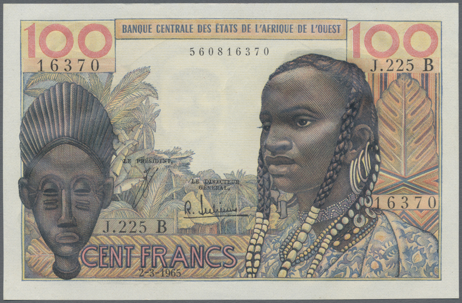 Paper Money: World West African States Ivory Coast 10000 Francs 2001 P-114a Unc Africa
