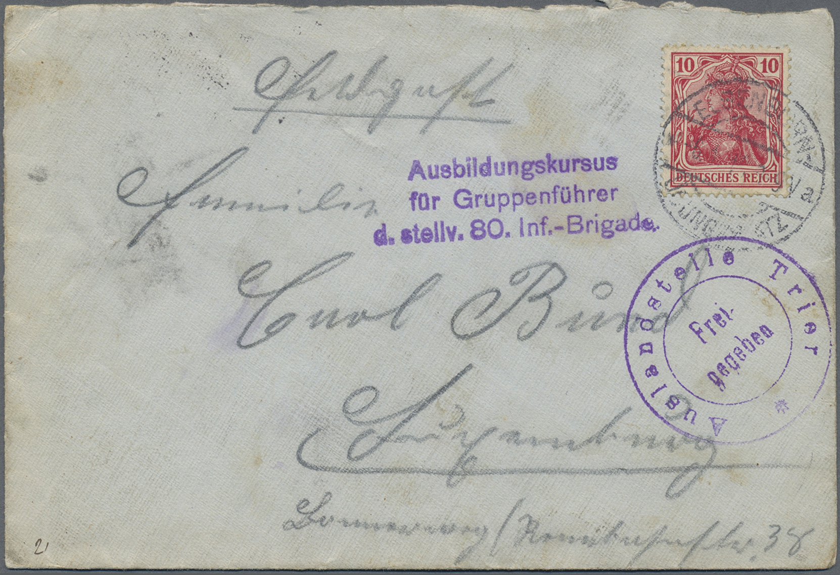 Lot 37422 - feldpost 1. weltkrieg  -  Auktionshaus Christoph Gärtner GmbH & Co. KG Collections Germany,  Collections Supplement, Surprise boxes #39 Day 7