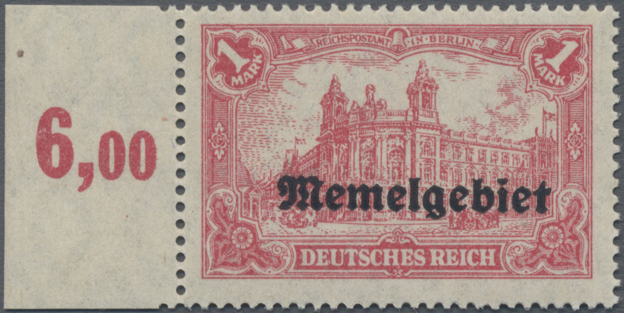 Lot 01024 - Memel  -  Auktionshaus Christoph Gärtner GmbH & Co. KG 50th Auction Anniversary Auction - Day 3