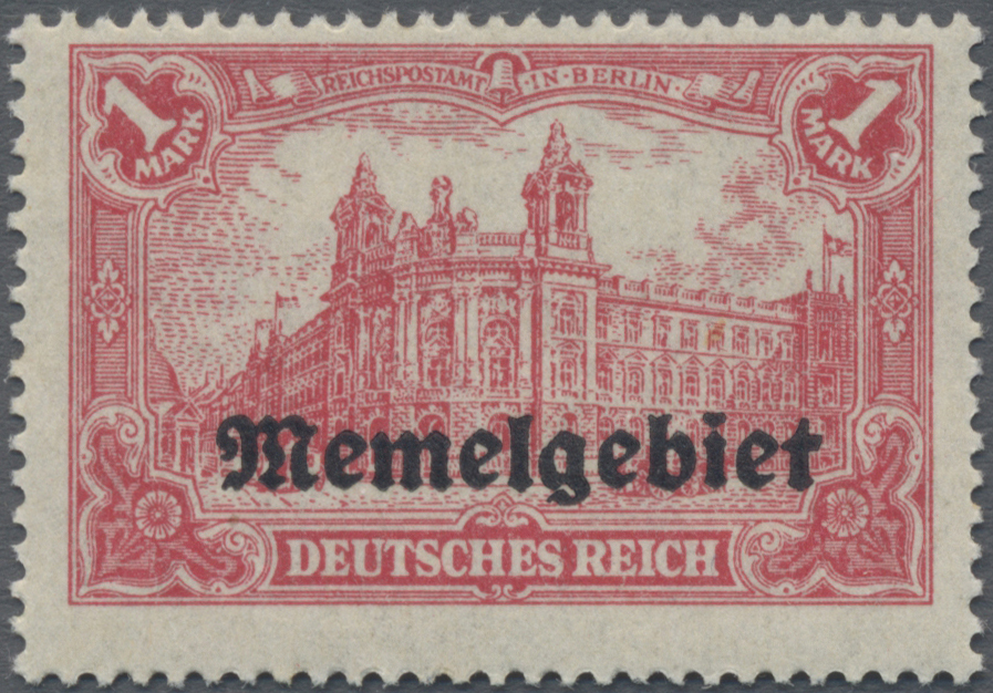 Lot 01023 - Memel  -  Auktionshaus Christoph Gärtner GmbH & Co. KG 50th Auction Anniversary Auction - Day 3