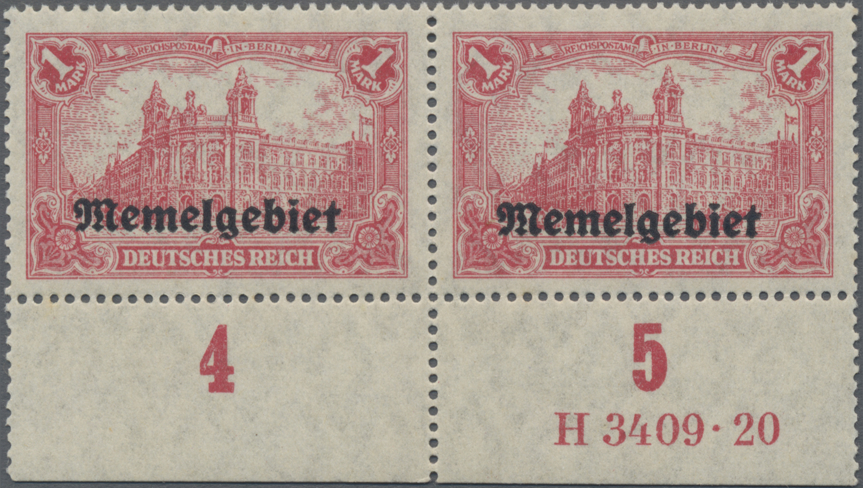 Lot 01025 - Memel  -  Auktionshaus Christoph Gärtner GmbH & Co. KG 50th Auction Anniversary Auction - Day 3