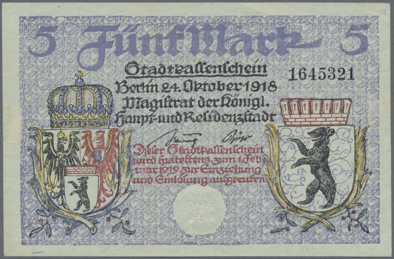 Lot 01474 - Deutschland - Notgeld - Berlin und Brandenburg | Banknoten  -  Auktionshaus Christoph Gärtner GmbH & Co. KG Sale #48 The Banknotes