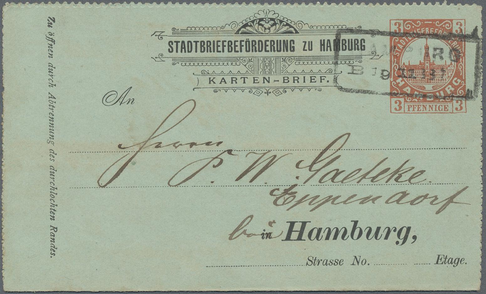 Lot 36804 - Deutsches Reich - Privatpost (Stadtpost)  -  Auktionshaus Christoph Gärtner GmbH & Co. KG Sale #44 Collections Germany
