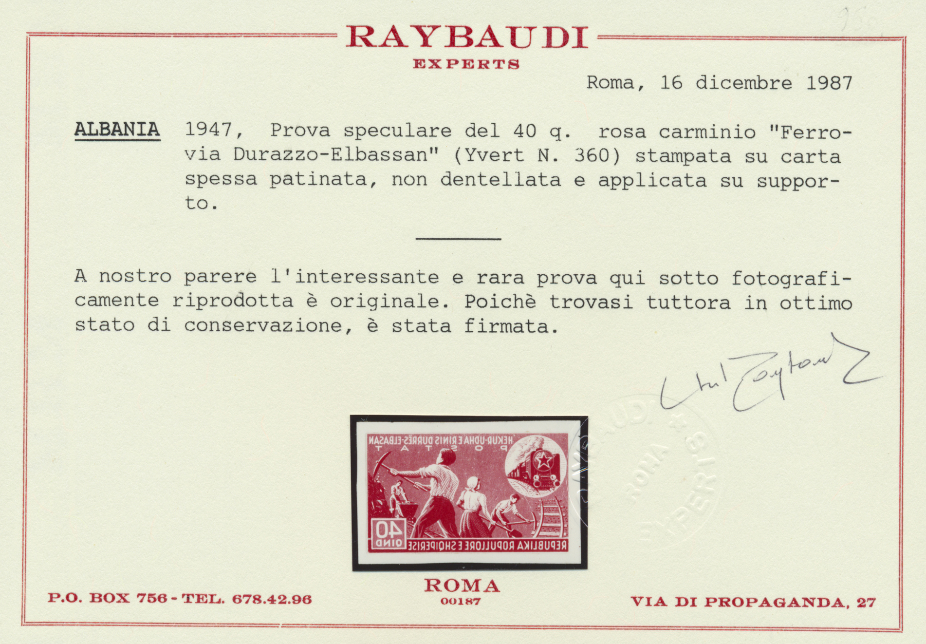 Lot 15536 - albanien  -  Auktionshaus Christoph Gärtner GmbH & Co. KG Single lots Philately Overseas & Europe. Auction #39 Day 4