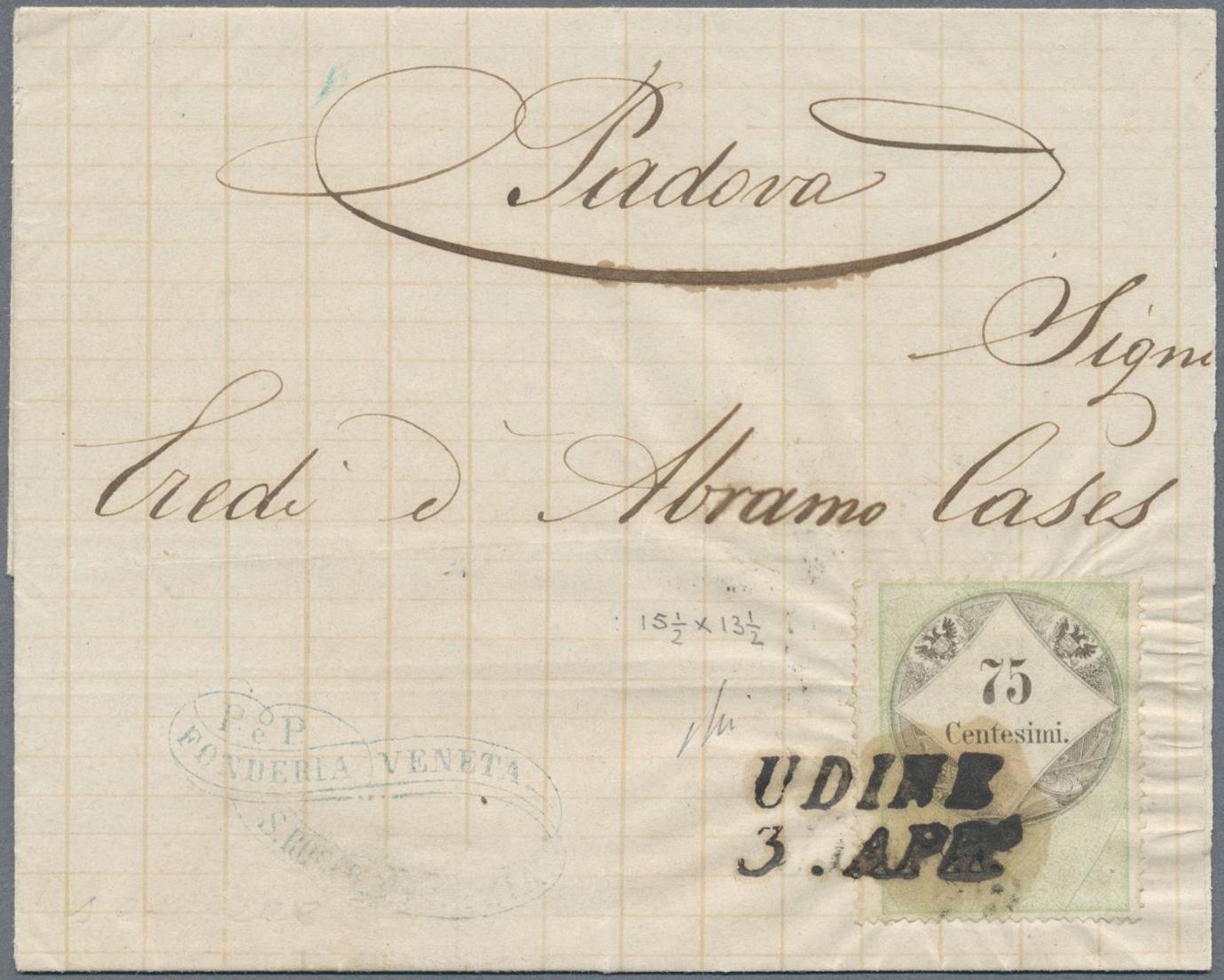 Lot 18171 - Österreich - Lombardei und Venetien - Stempelmarken  -  Auktionshaus Christoph Gärtner GmbH & Co. KG Single lots Philately Overseas & Europe. Auction #39 Day 4