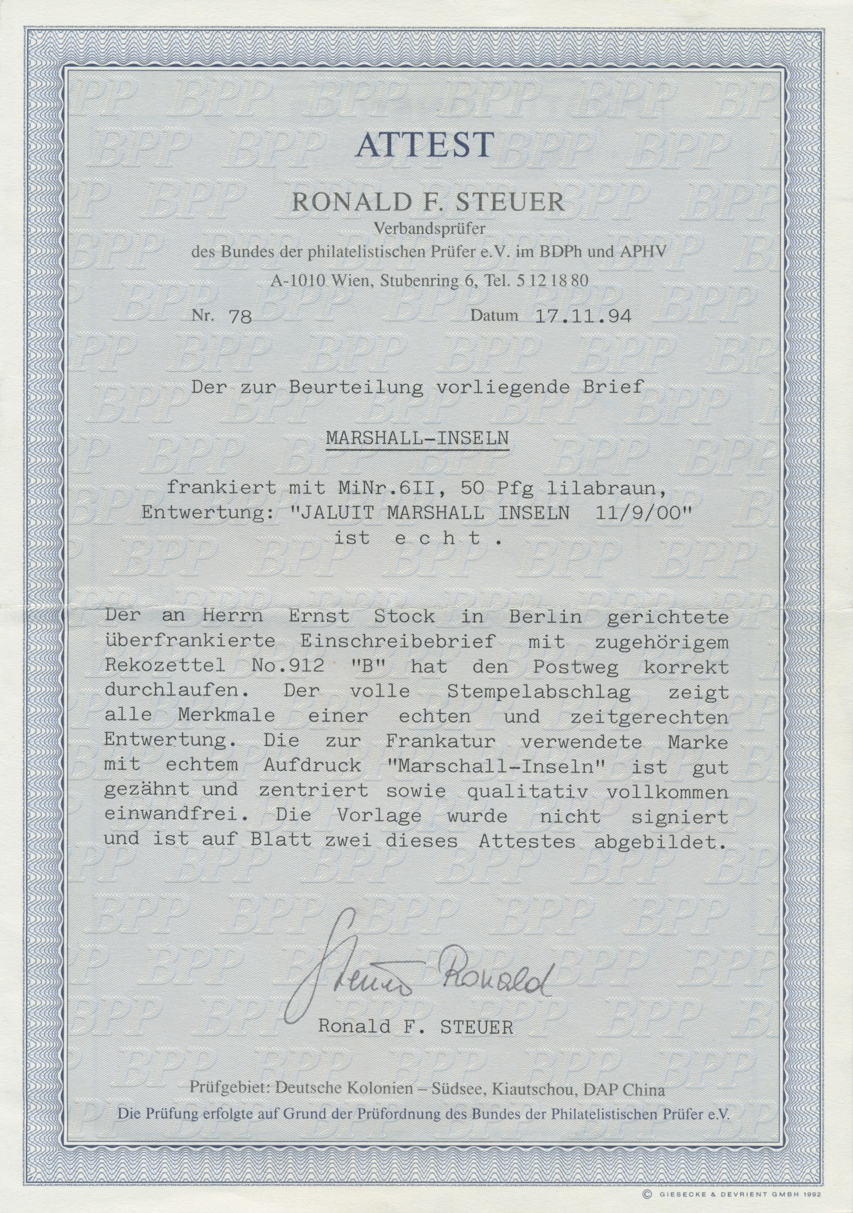 Lot 22836 - Deutsche Kolonien - Marshall-Inseln  -  Auktionshaus Christoph Gärtner GmbH & Co. KG Sale #44 Germany, Picture Post cards