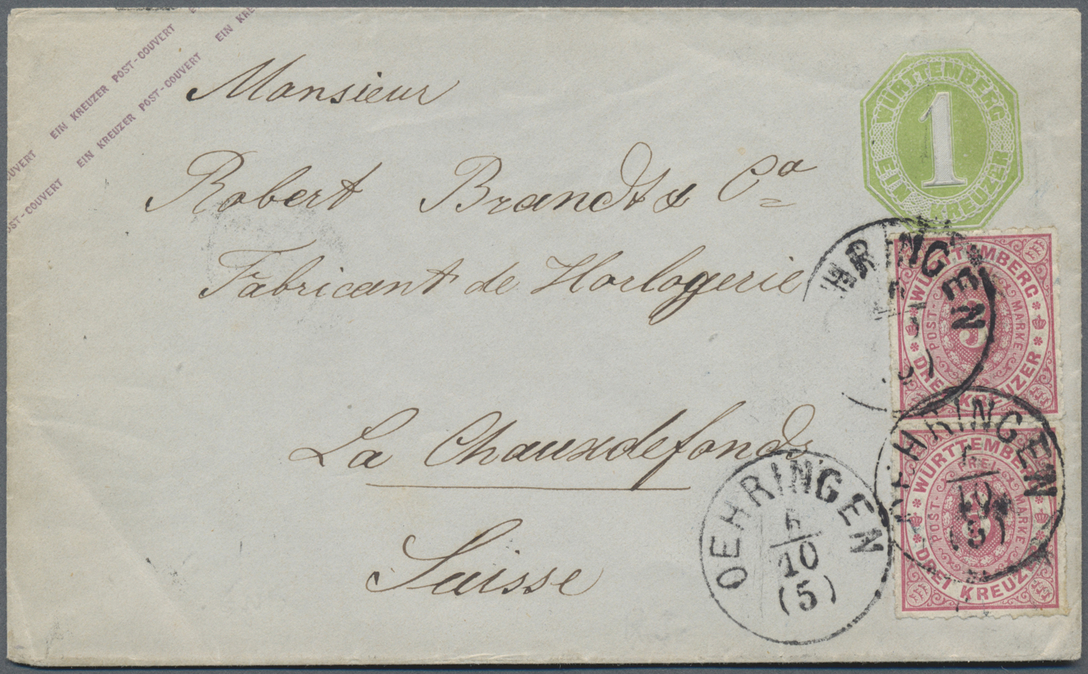 Lot 13908 - Württemberg - Marken und Briefe  -  Auktionshaus Christoph Gärtner GmbH & Co. KG Sale #46 Single lots Germany - and picture post cards