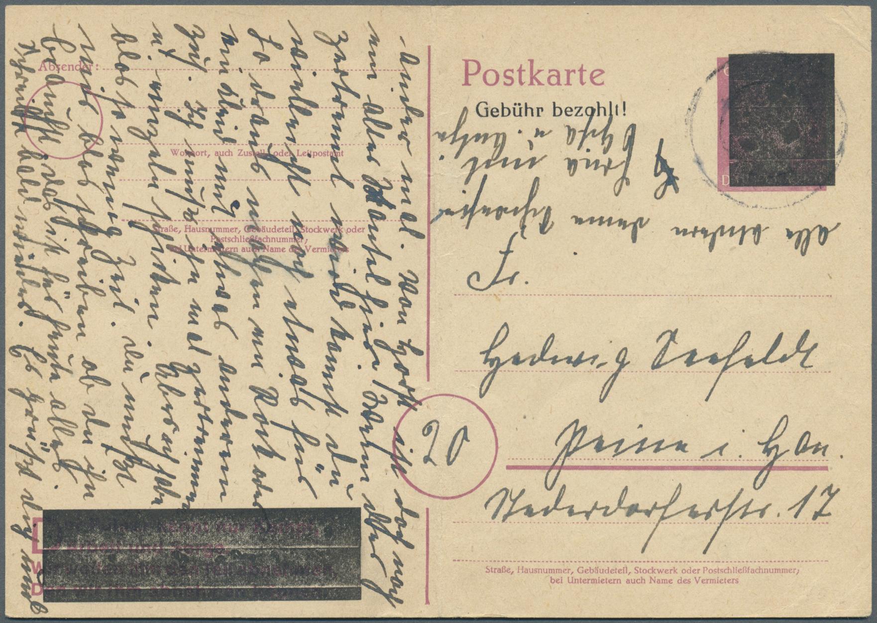 Lot 24038 - Alliierte Besetzung - Behelfsausgaben: Sowjetische Zone  -  Auktionshaus Christoph Gärtner GmbH & Co. KG Sale #44 Germany, Picture Post cards