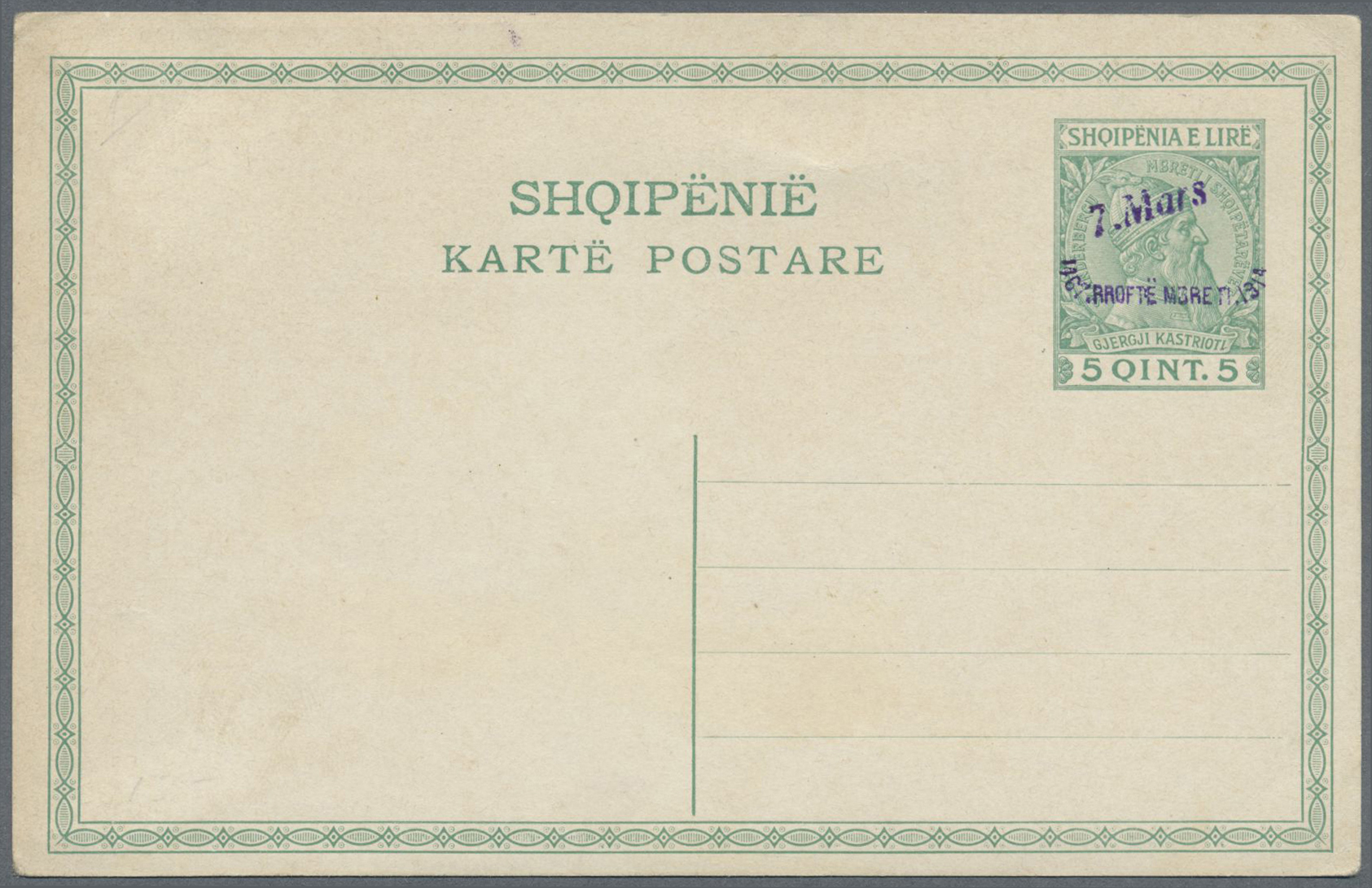 Lot 15561 - Albanien - Ganzsachen  -  Auktionshaus Christoph Gärtner GmbH & Co. KG Single lots Philately Overseas & Europe. Auction #39 Day 4