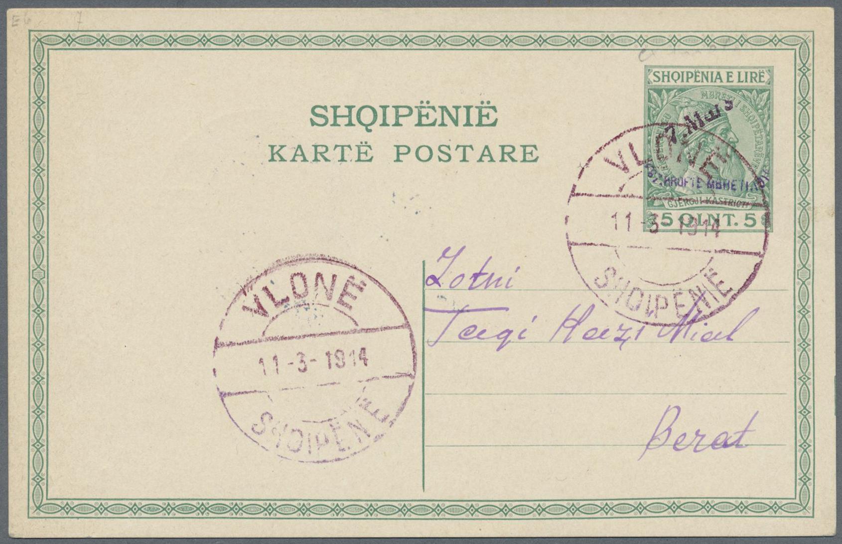 Lot 15563 - Albanien - Ganzsachen  -  Auktionshaus Christoph Gärtner GmbH & Co. KG Single lots Philately Overseas & Europe. Auction #39 Day 4