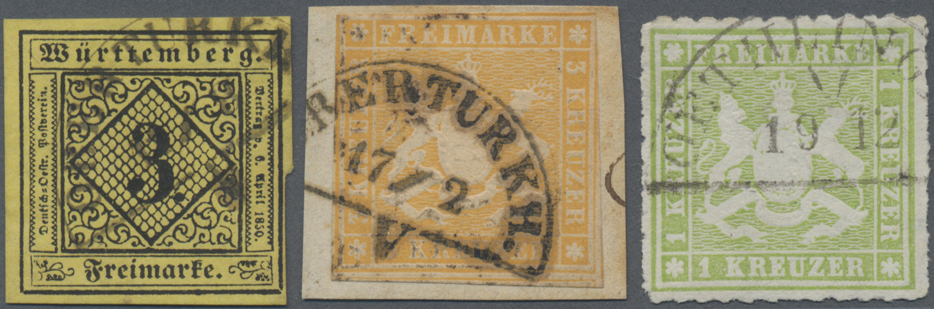 Lot 11124 - Württemberg - Bahnpost  -  Auktionshaus Christoph Gärtner GmbH & Co. KG 50th Auction Anniversary Auction - Day 4