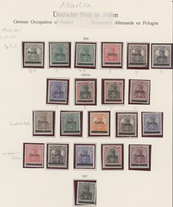 Lot 14743 - Deutsche Abstimmungsgebiete: Saargebiet  -  Auktionshaus Christoph Gärtner GmbH & Co. KG 51th Auction - Day 5