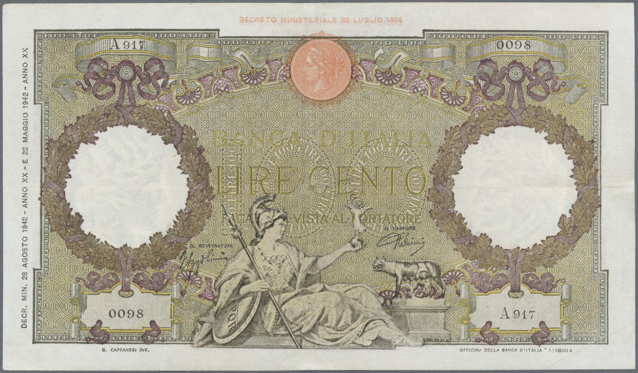 Lot 00455 - Italy / Italien | Banknoten  -  Auktionshaus Christoph Gärtner GmbH & Co. KG Sale #48 The Banknotes