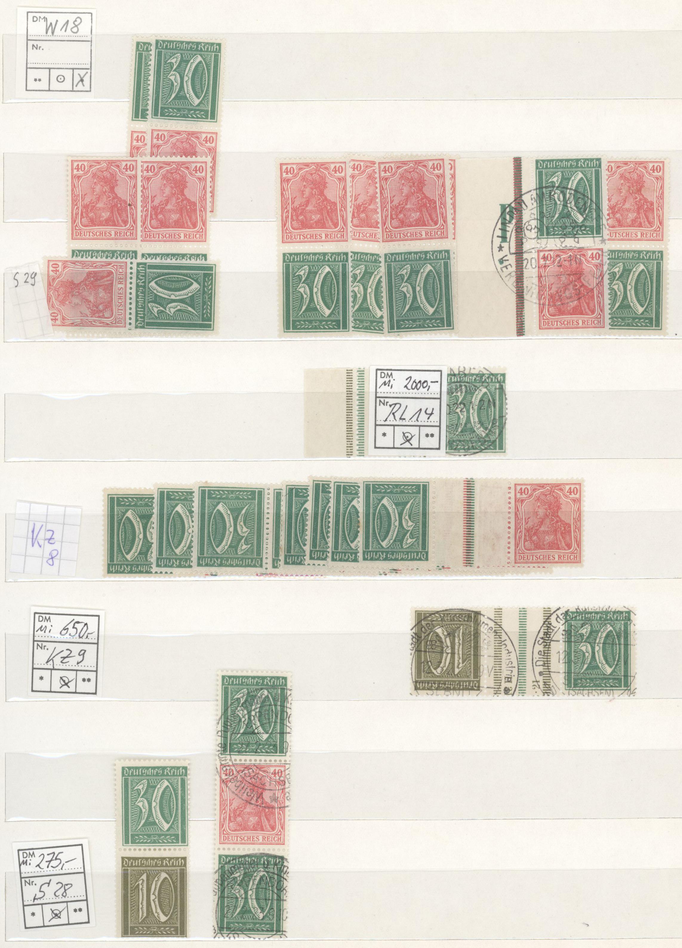 Lot 31691 - Deutsches Reich - Zusammendrucke  -  Auktionshaus Christoph Gärtner GmbH & Co. KG Auction #40 Collections Germany, Wunderkartons