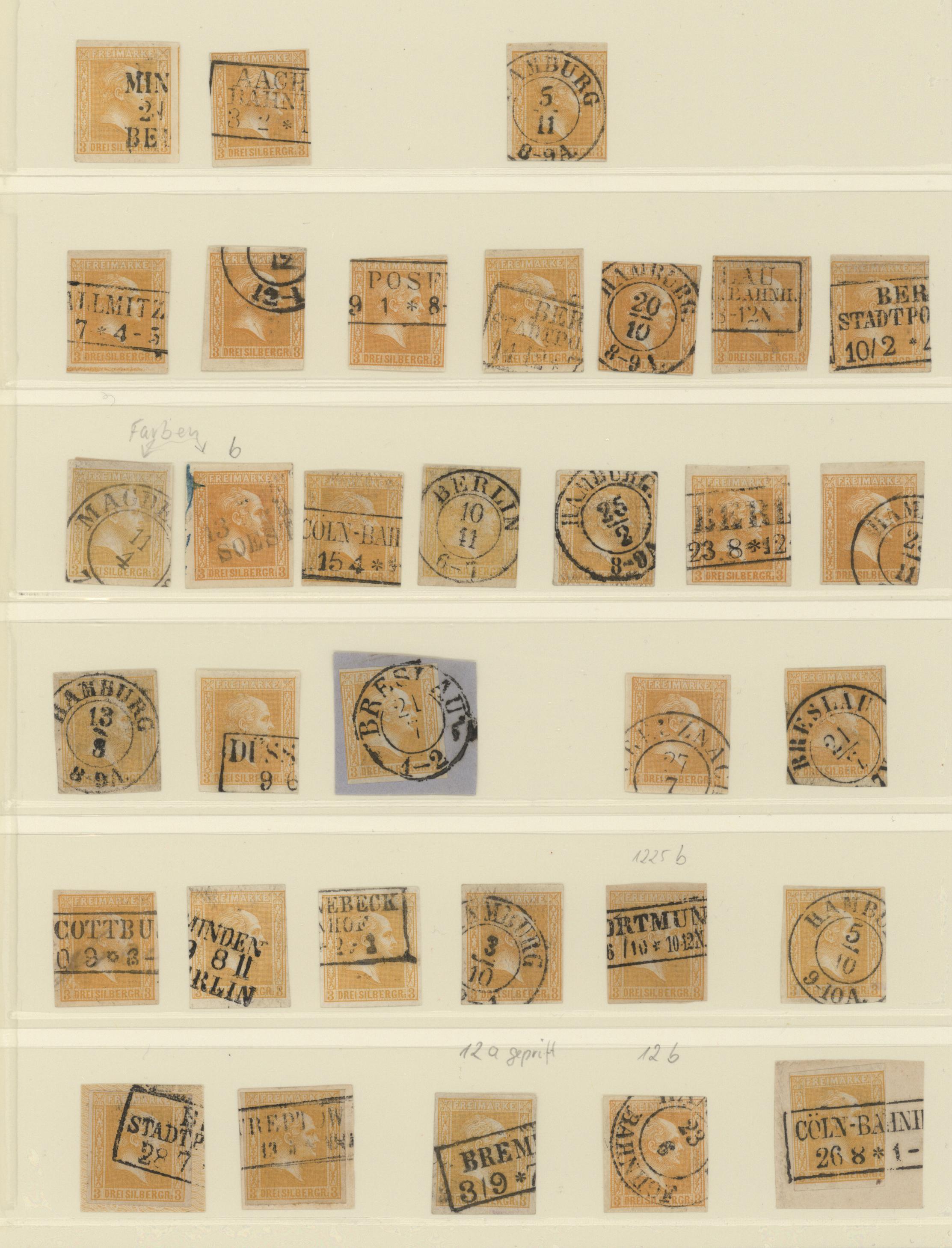 Lot 36283 - Preußen - Marken und Briefe  -  Auktionshaus Christoph Gärtner GmbH & Co. KG Sale #44 Collections Germany