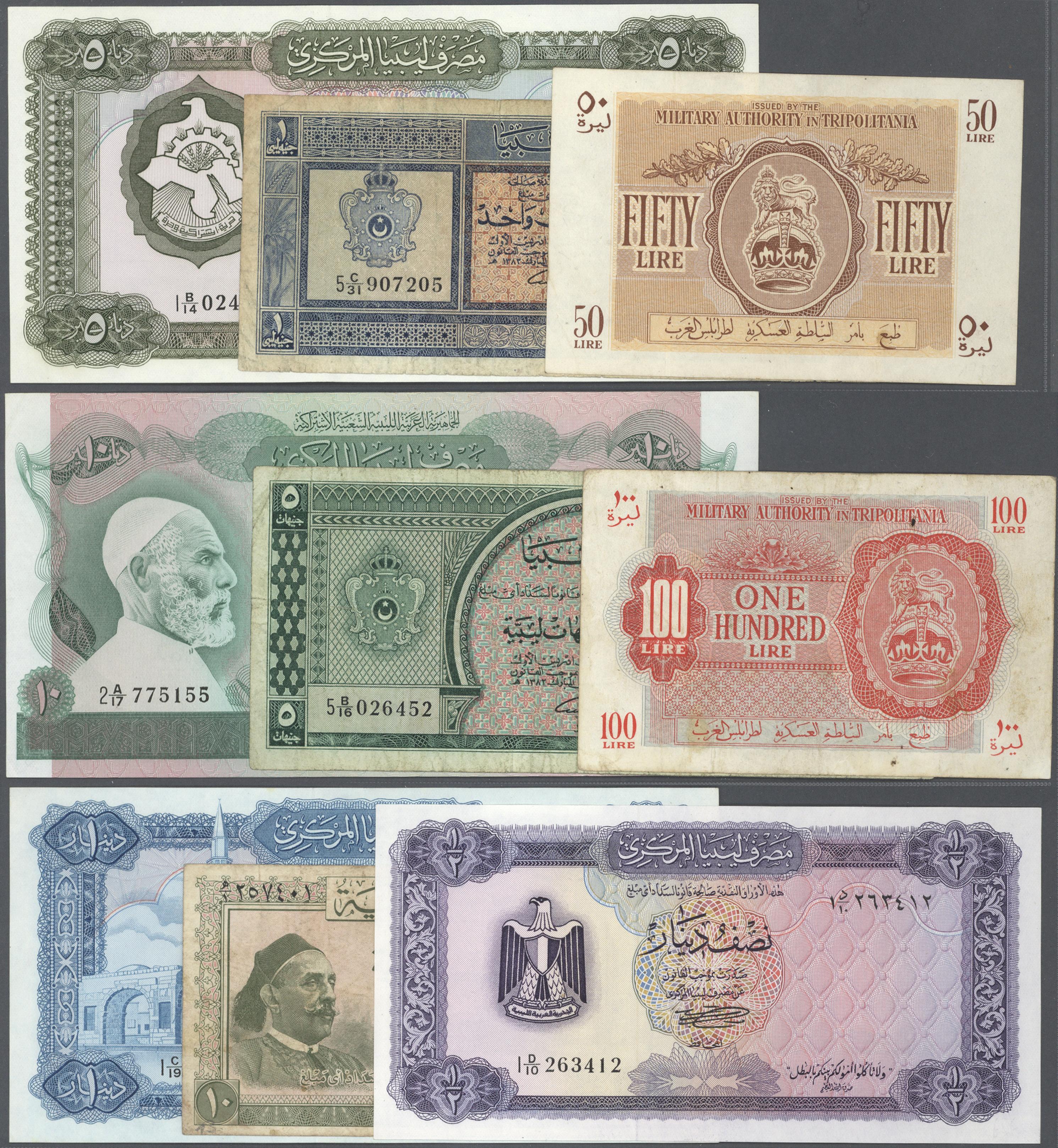 Lot 01063 - Libya / Libyen | Banknoten  -  Auktionshaus Christoph Gärtner GmbH & Co. KG Sale #48 The Banknotes