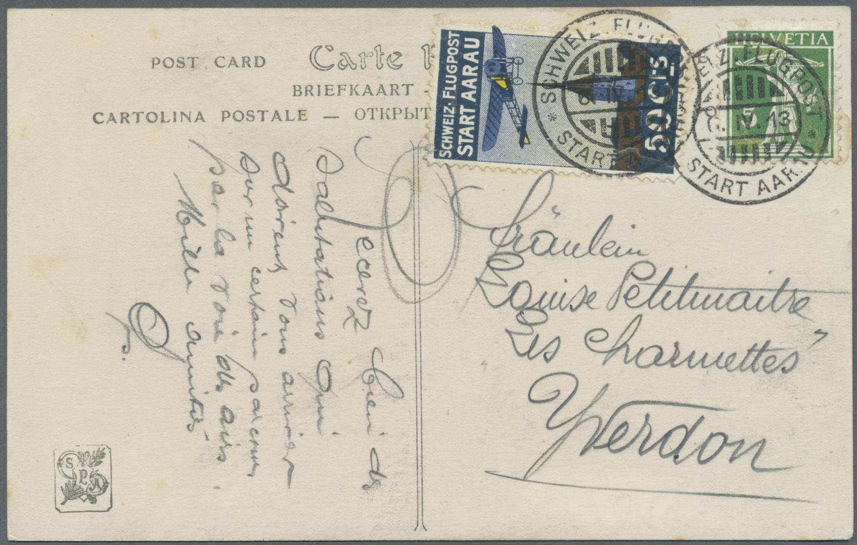 Lot 18972 - Schweiz - Halbamtliche Flugmarken  -  Auktionshaus Christoph Gärtner GmbH & Co. KG Single lots Philately Overseas & Europe. Auction #39 Day 4