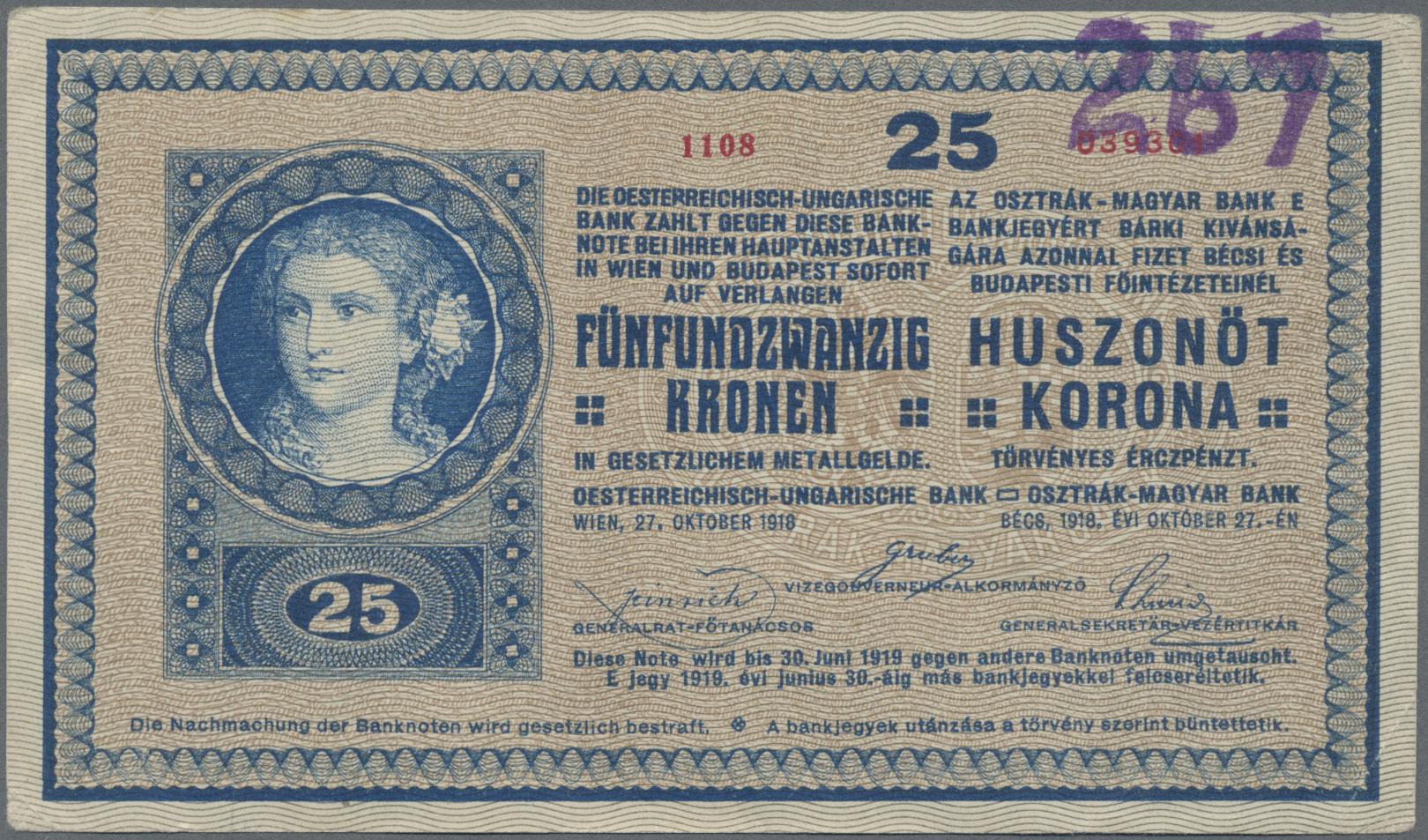 Lot 00028 - Austria / Österreich | Banknoten  -  Auktionshaus Christoph Gärtner GmbH & Co. KG Sale #48 The Banknotes