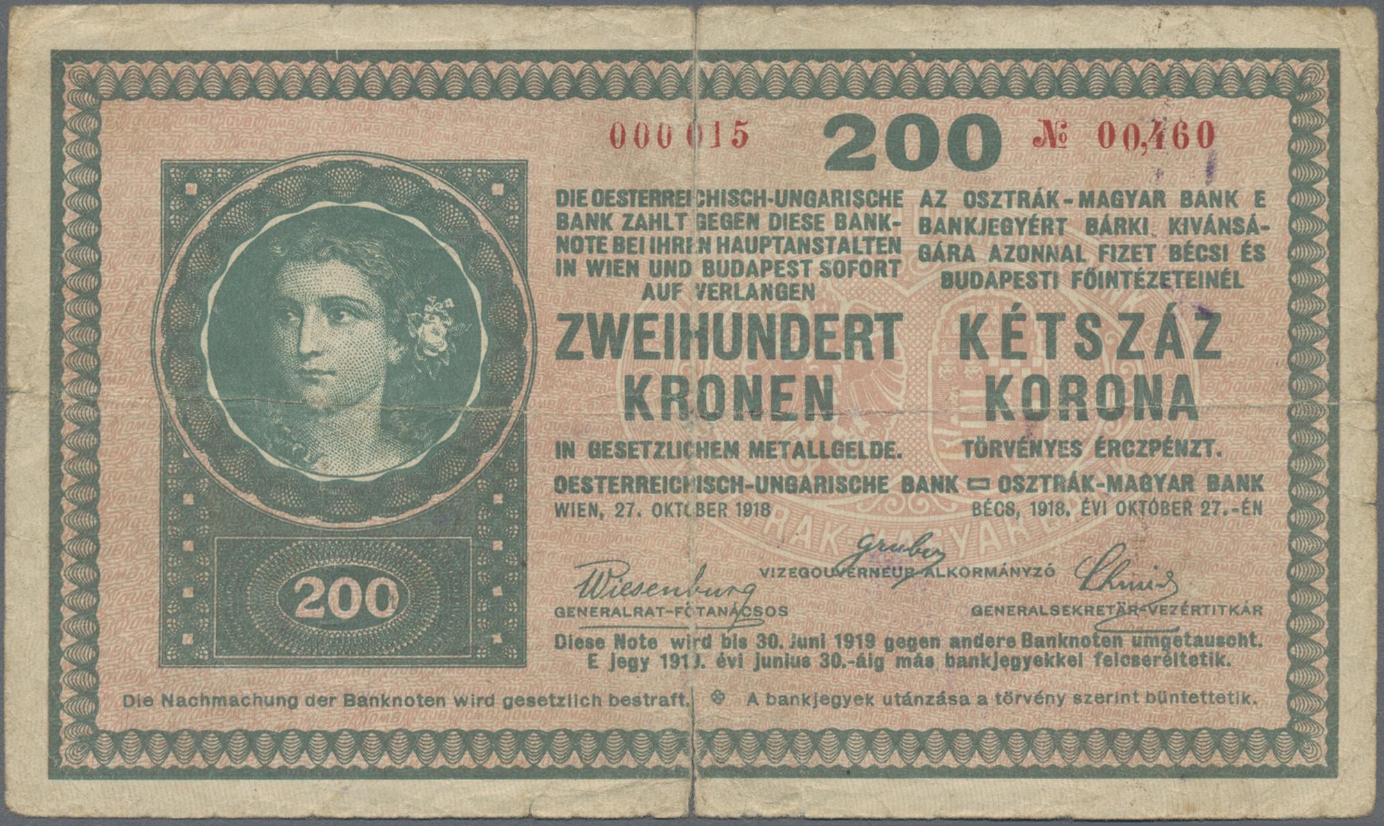 Lot 00052 - Austria / Österreich | Banknoten  -  Auktionshaus Christoph Gärtner GmbH & Co. KG Sale #48 The Banknotes