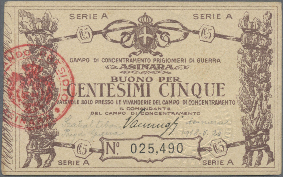 Lot 00469 - Italy / Italien | Banknoten  -  Auktionshaus Christoph Gärtner GmbH & Co. KG Sale #48 The Banknotes